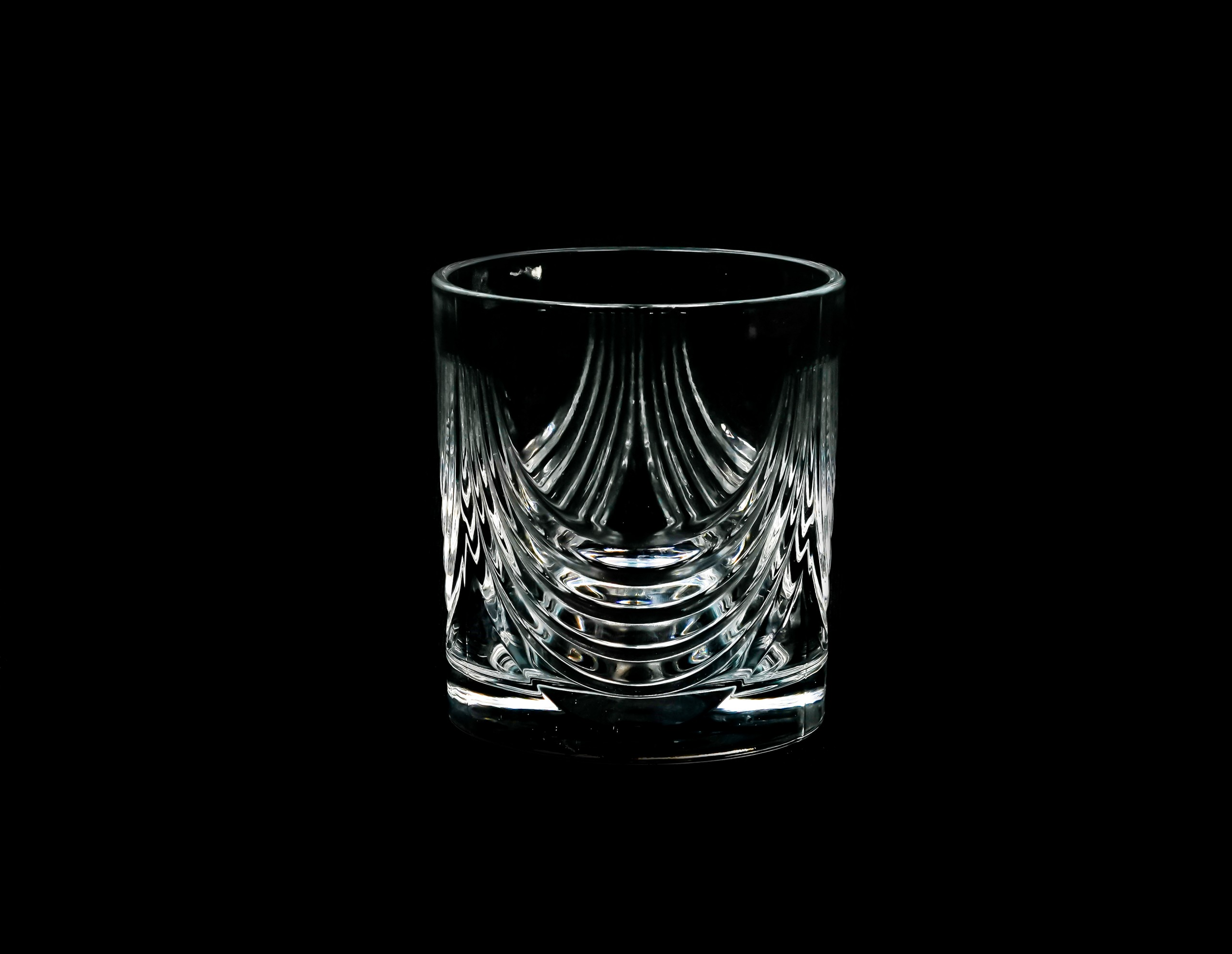 A Glass in Black Background