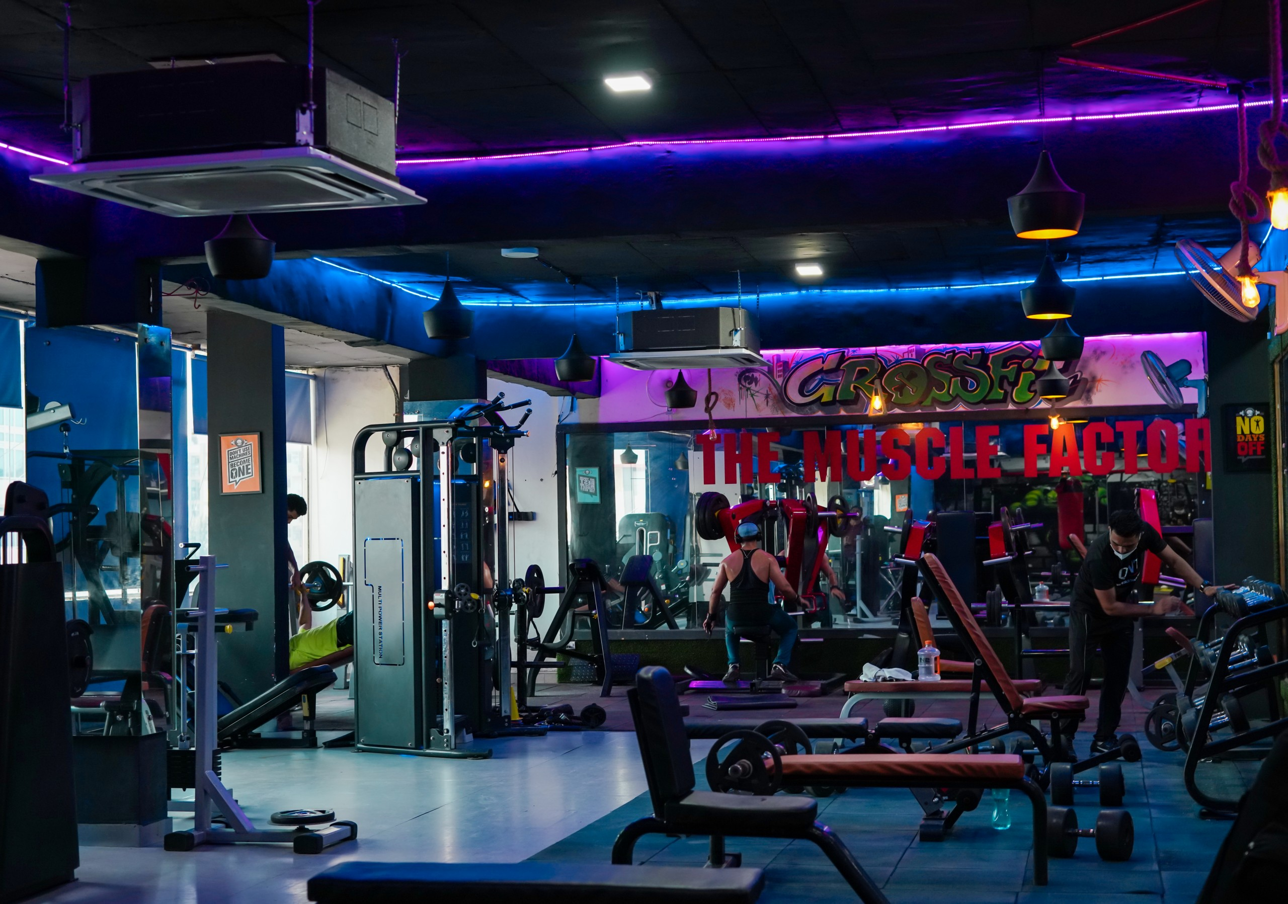 Gym interior and Equipment