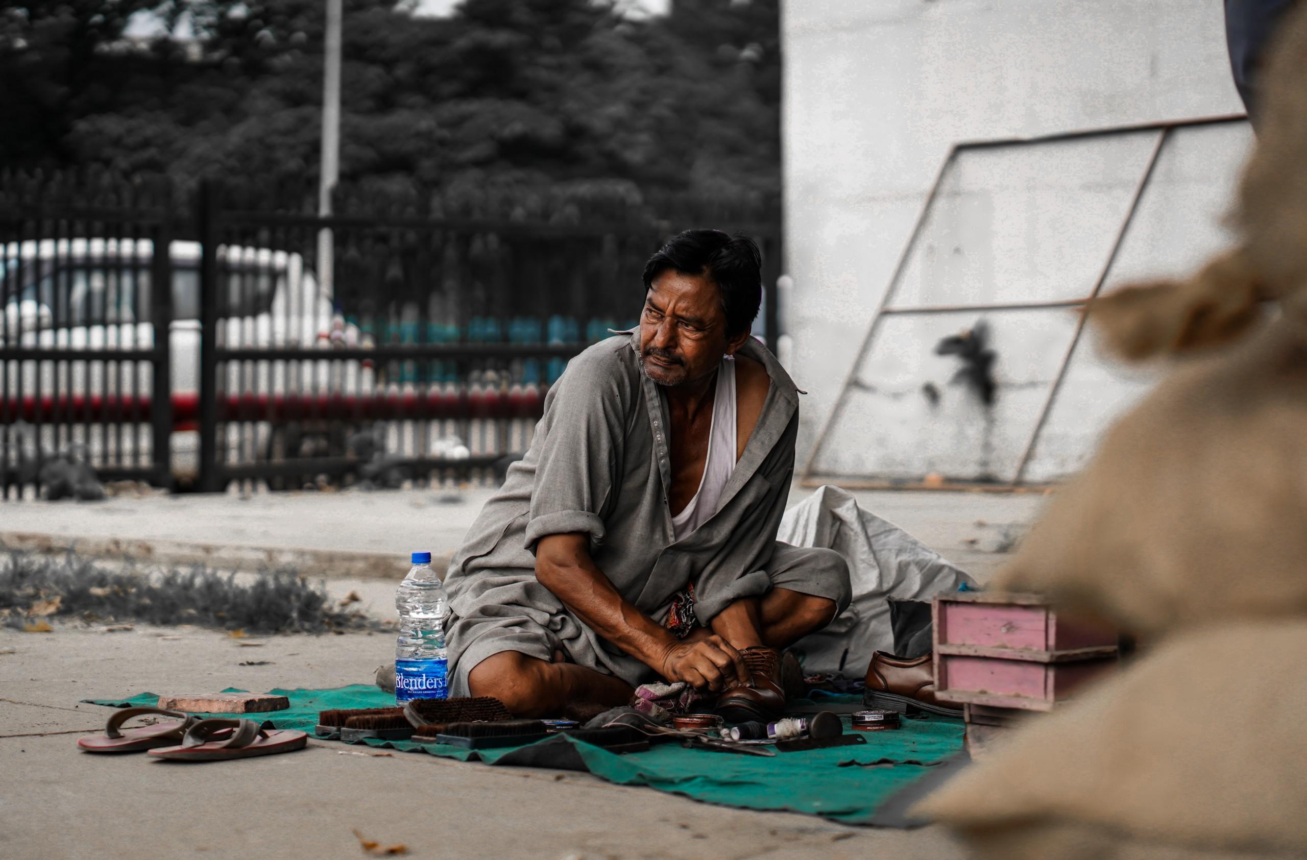 A Shoeshiner