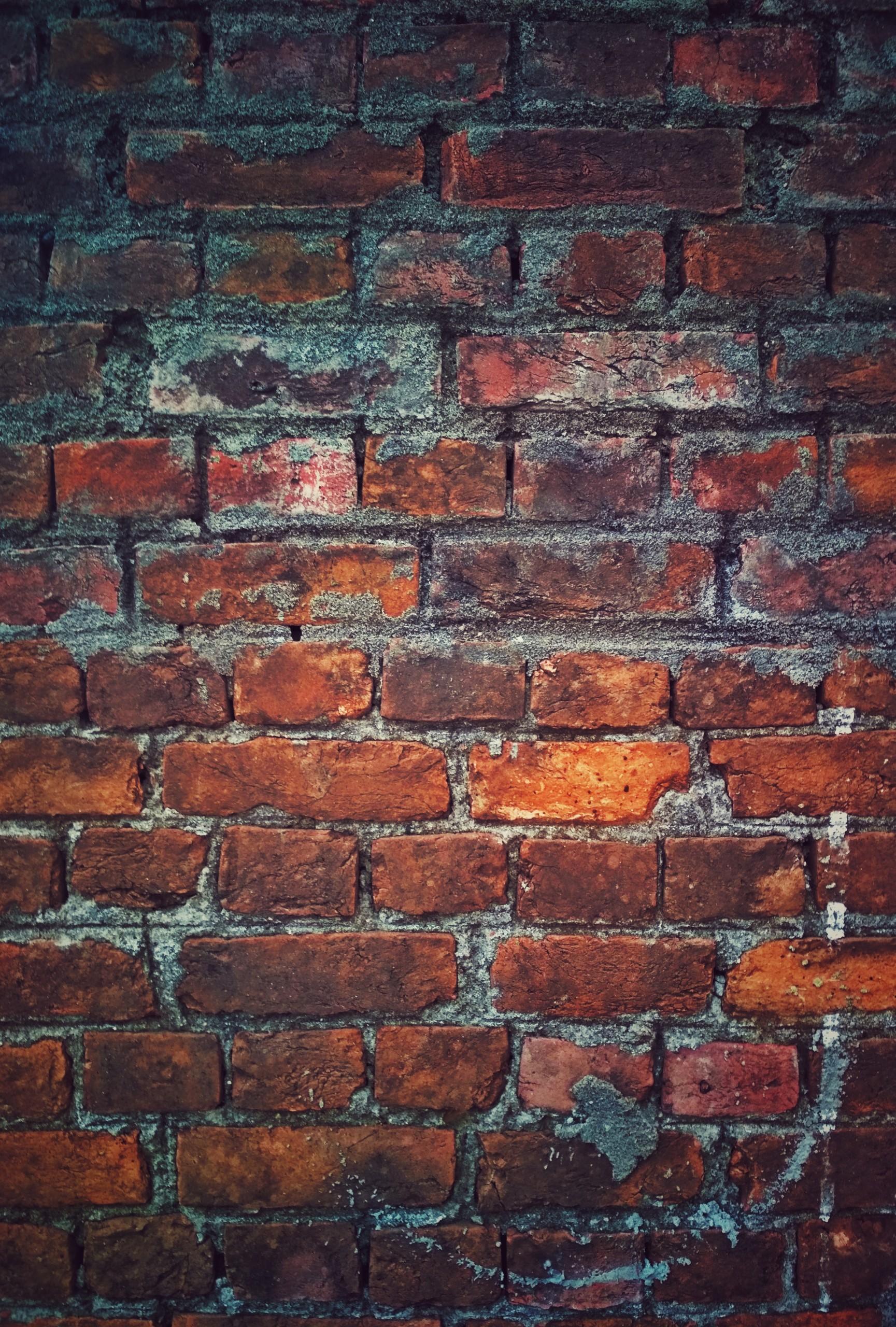 wall of red bricks wallpaper
