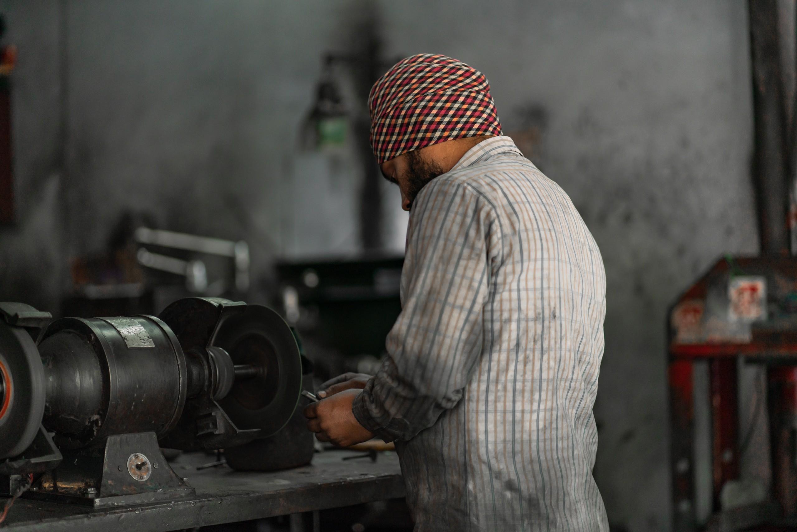 An Engineer working in workshop