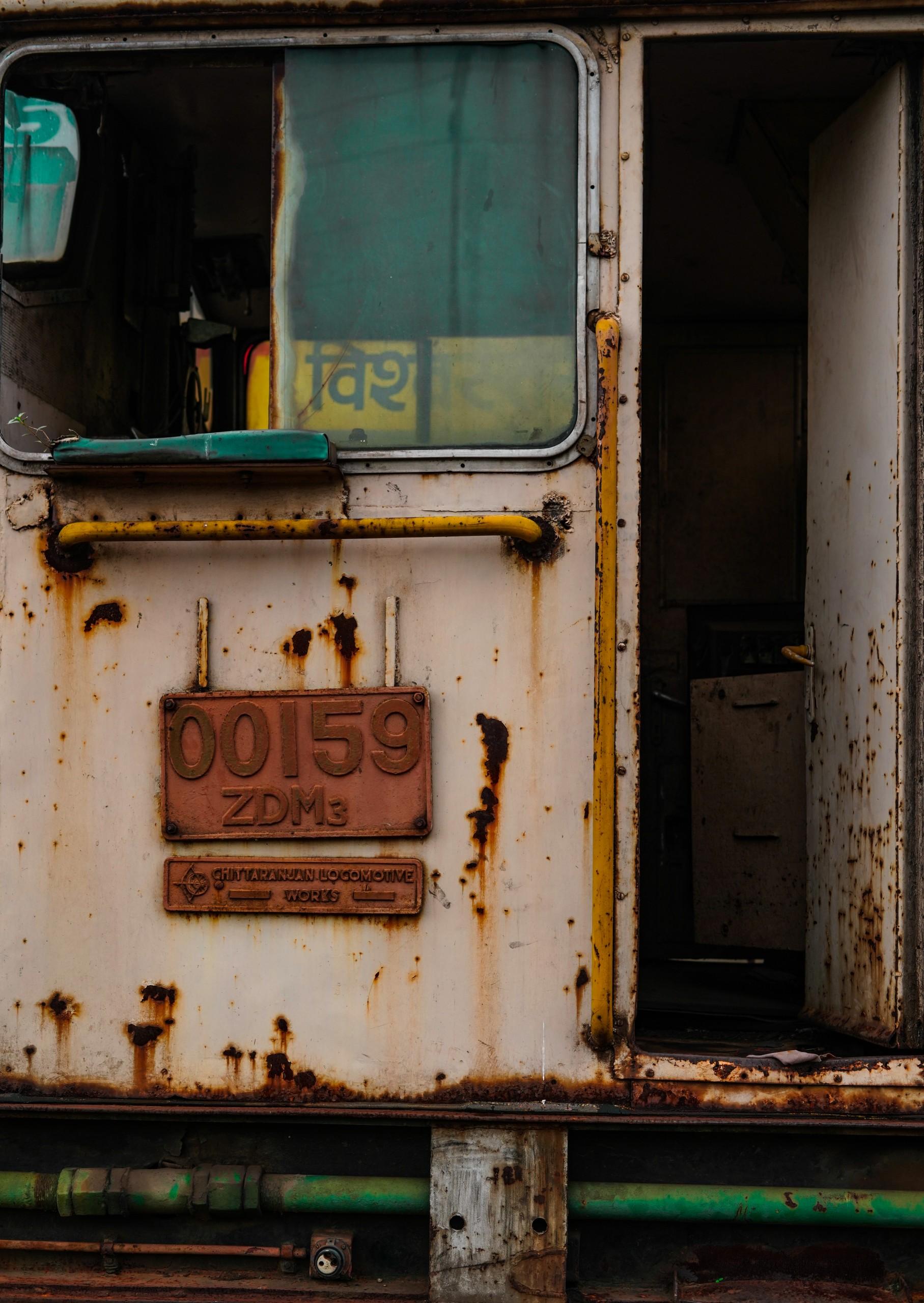 An Old Train Door