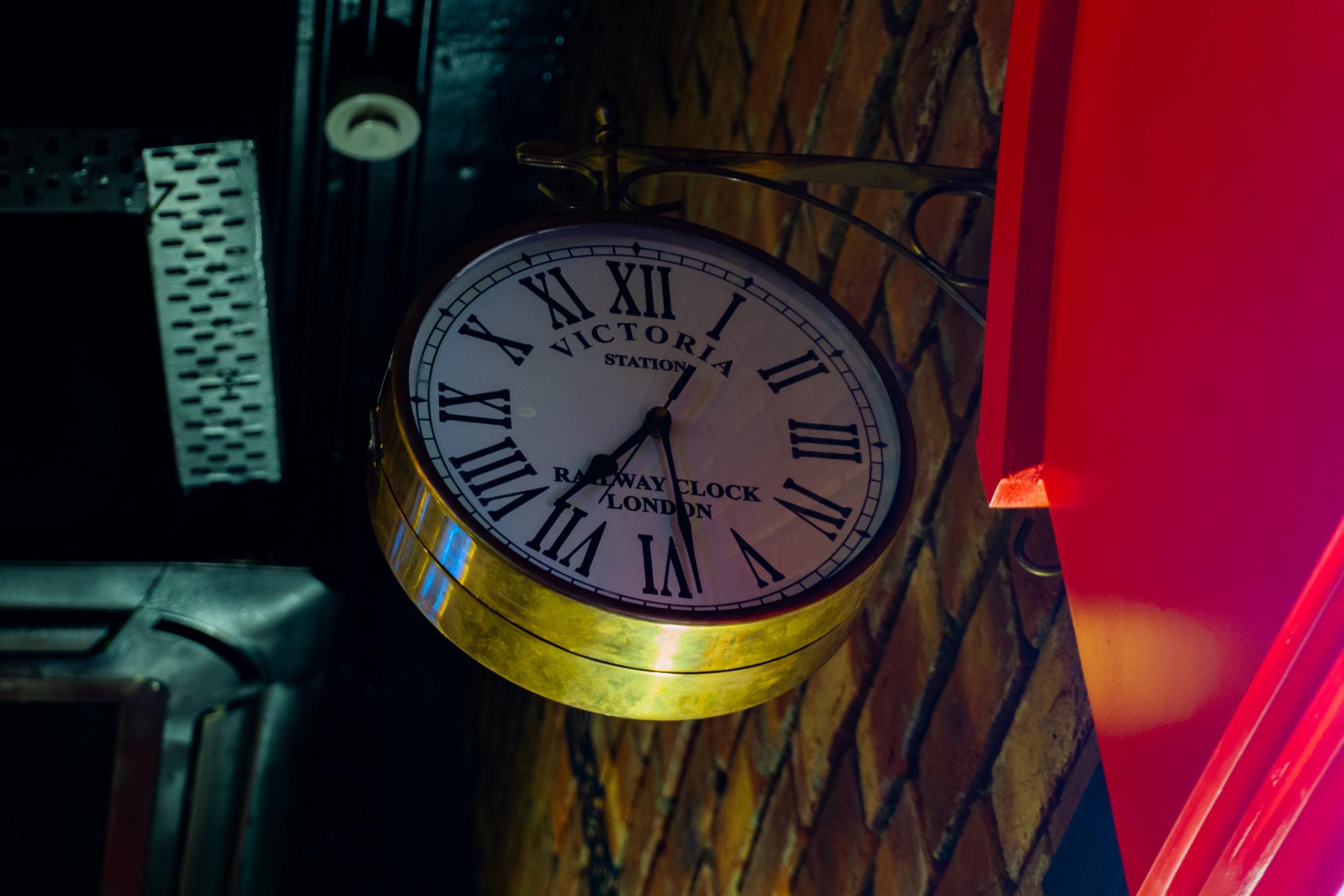 An antique clock