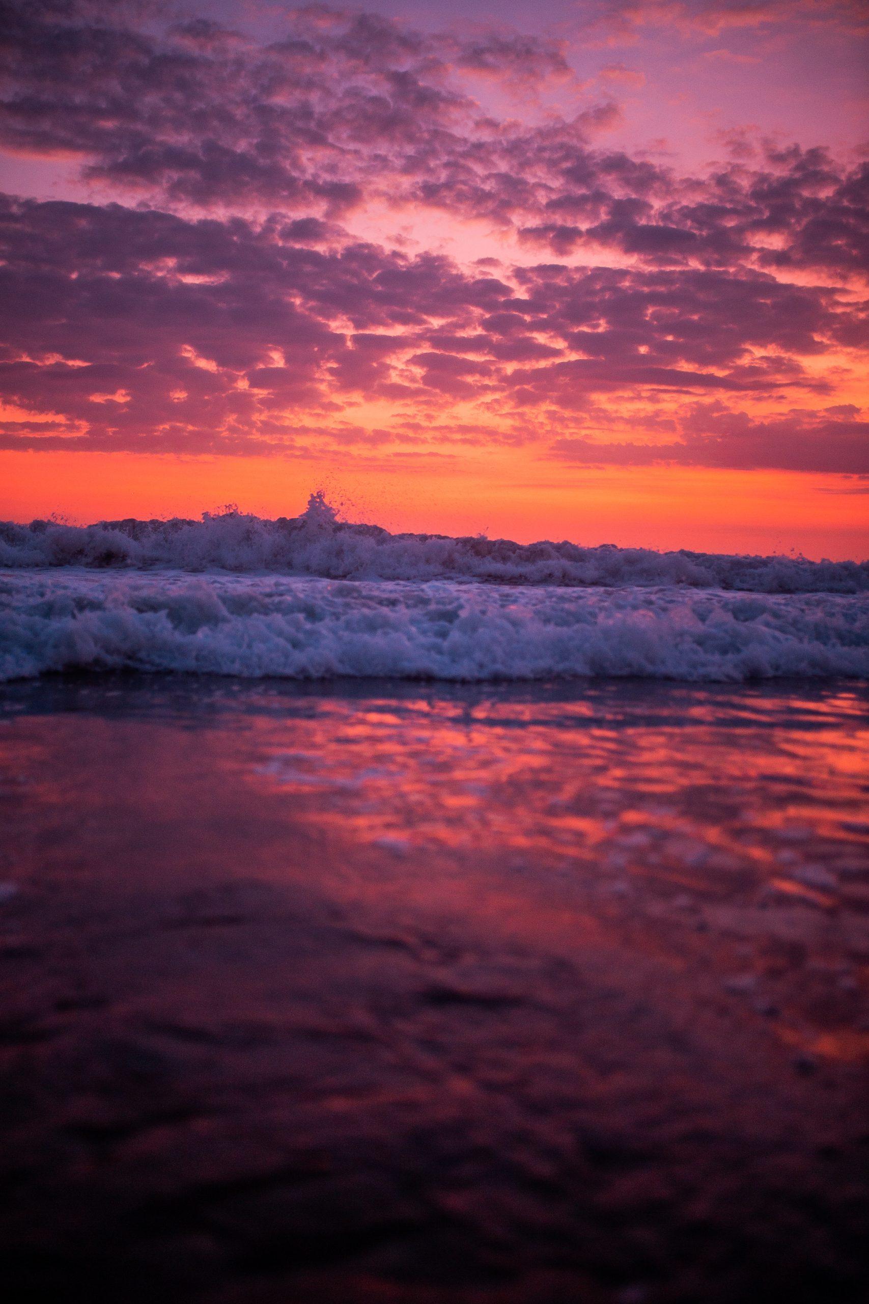 Bali Purple Sunset at ocean