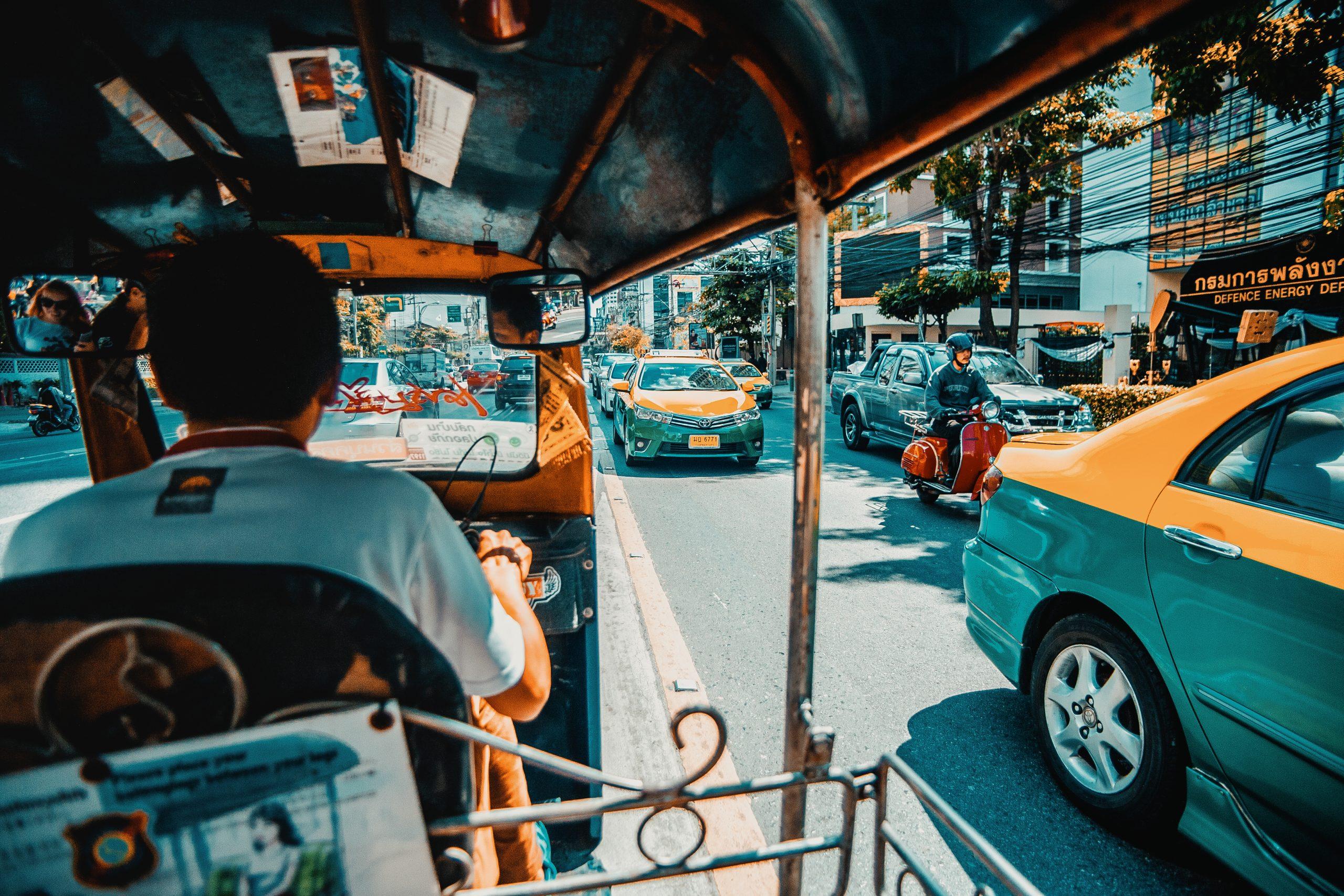 Autorickshaw in Bangkok Streets