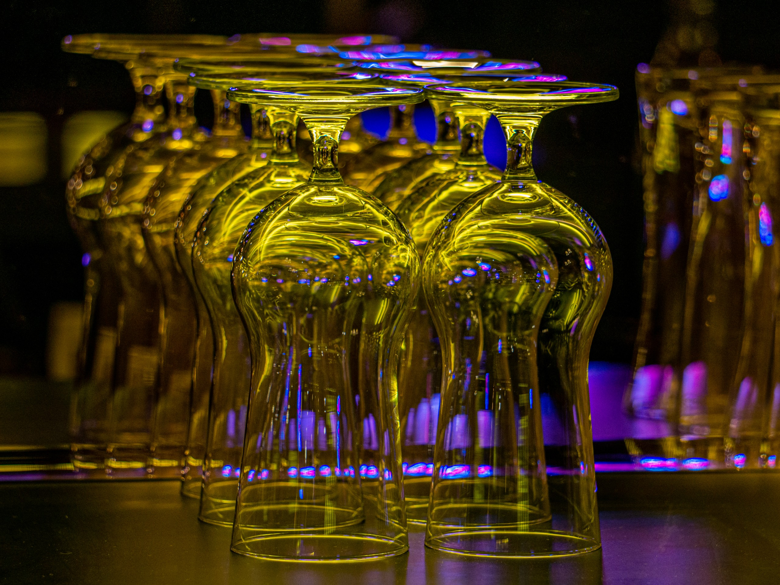 Bar Glasses on Focus