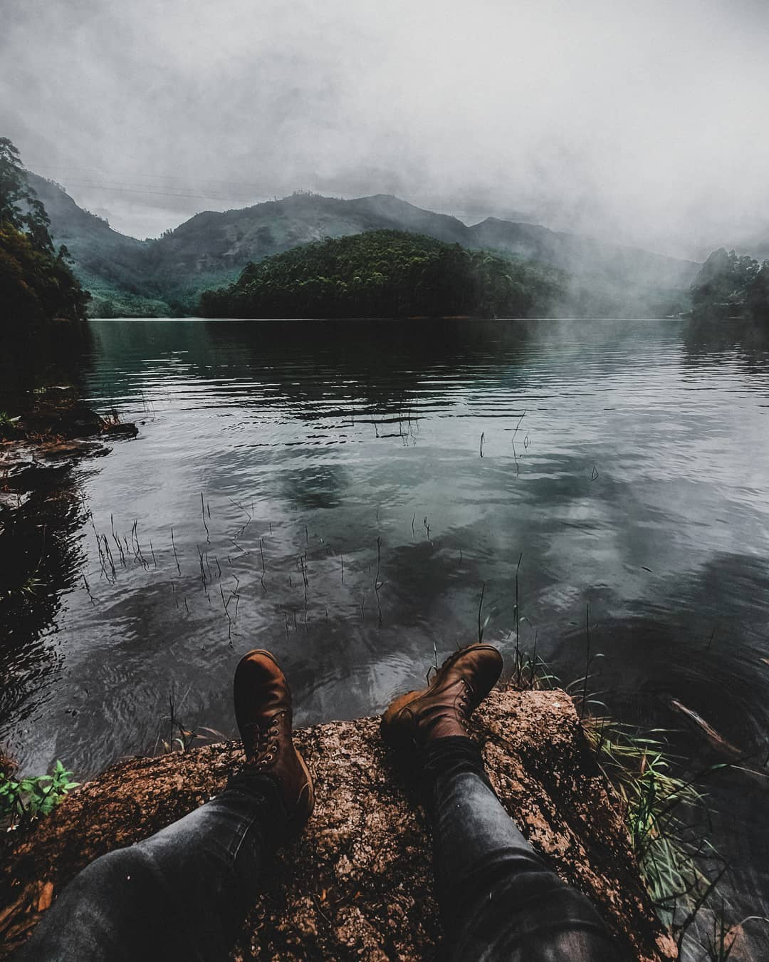 Boots in the Lake