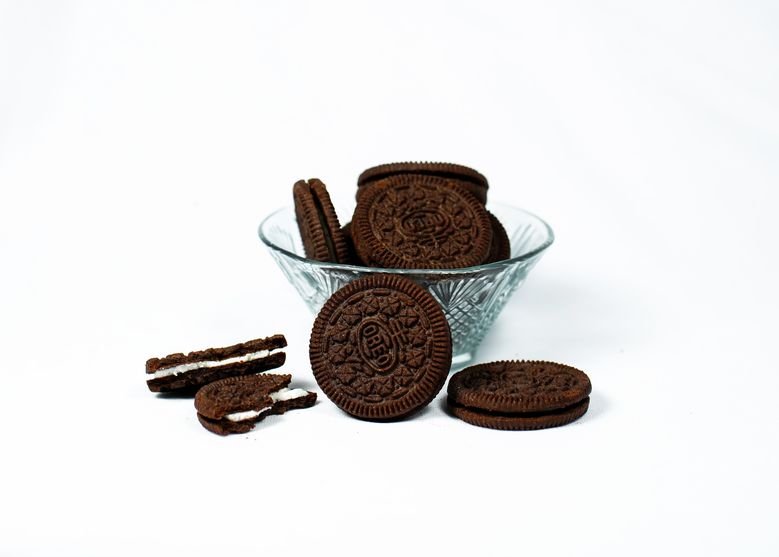 Bowl of Biscuits in White Background