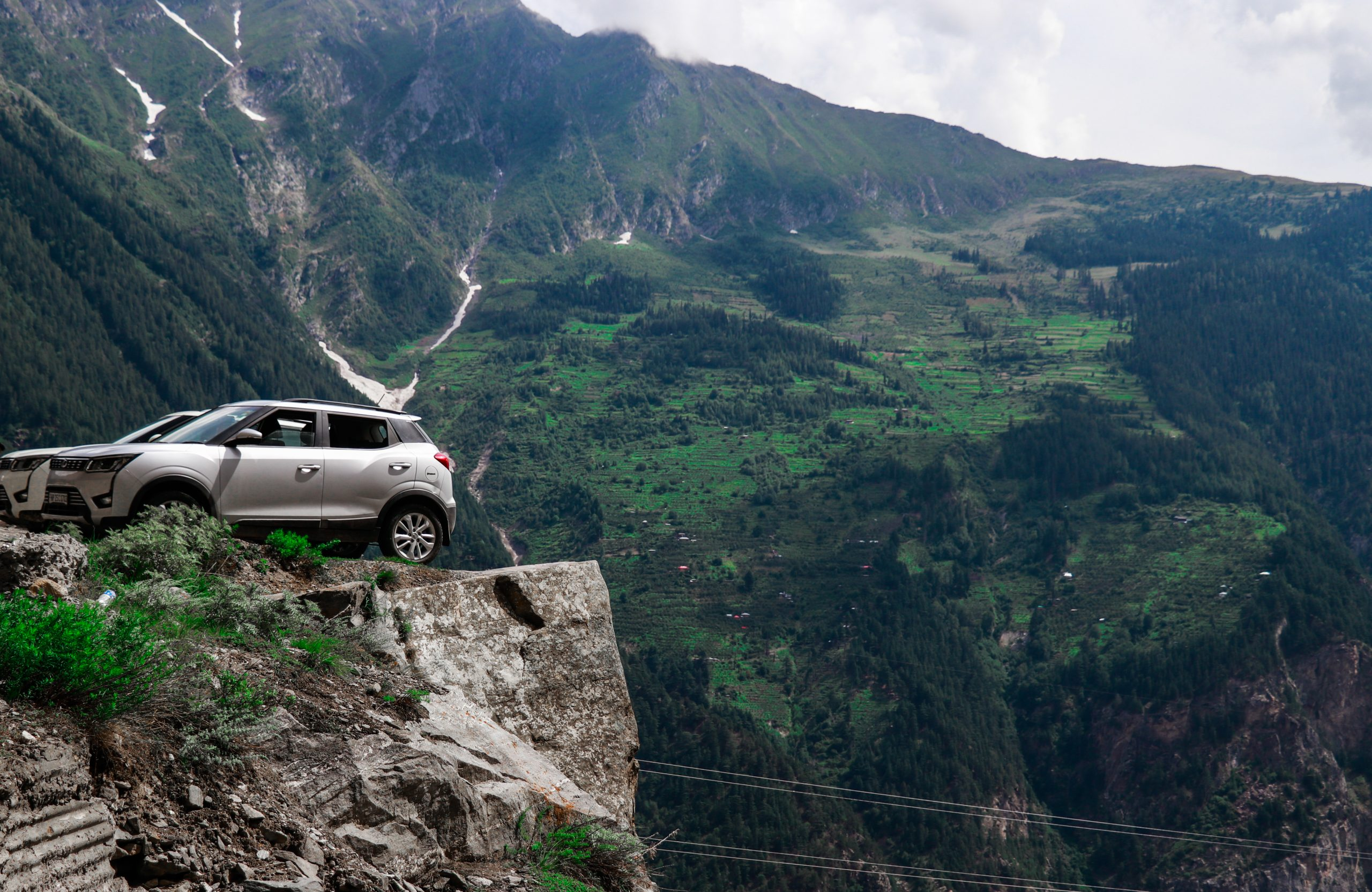 Car Parking and mountains