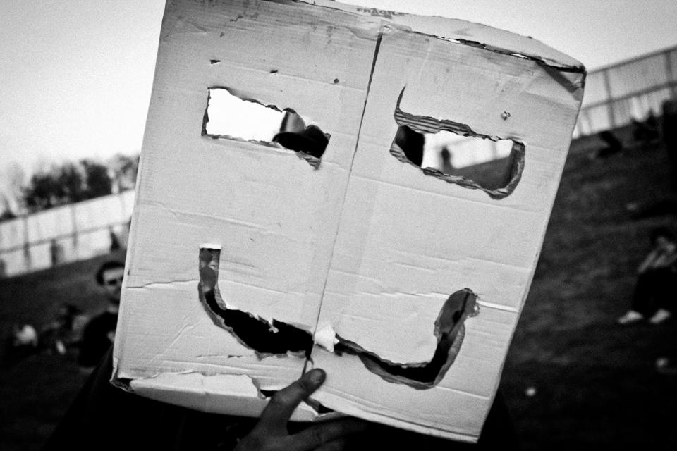 Cardboard Face Mask