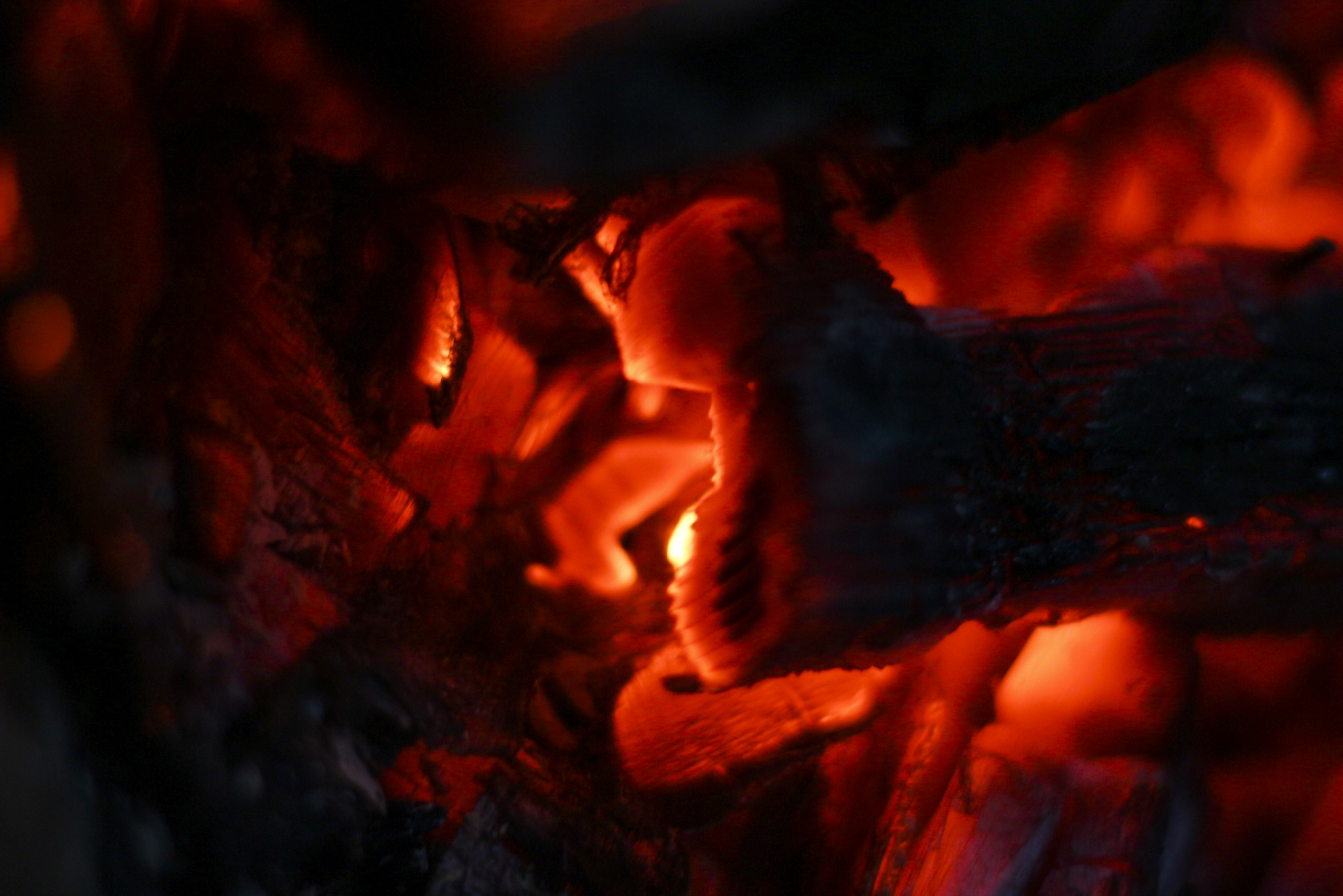 Close-up of Charcoal burning