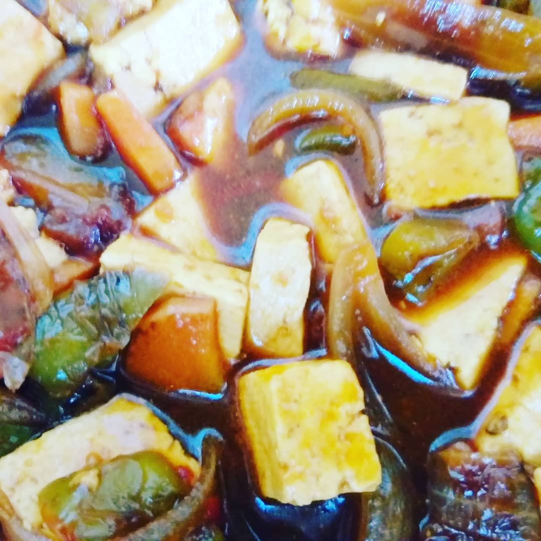 Chilly paneer with gravy