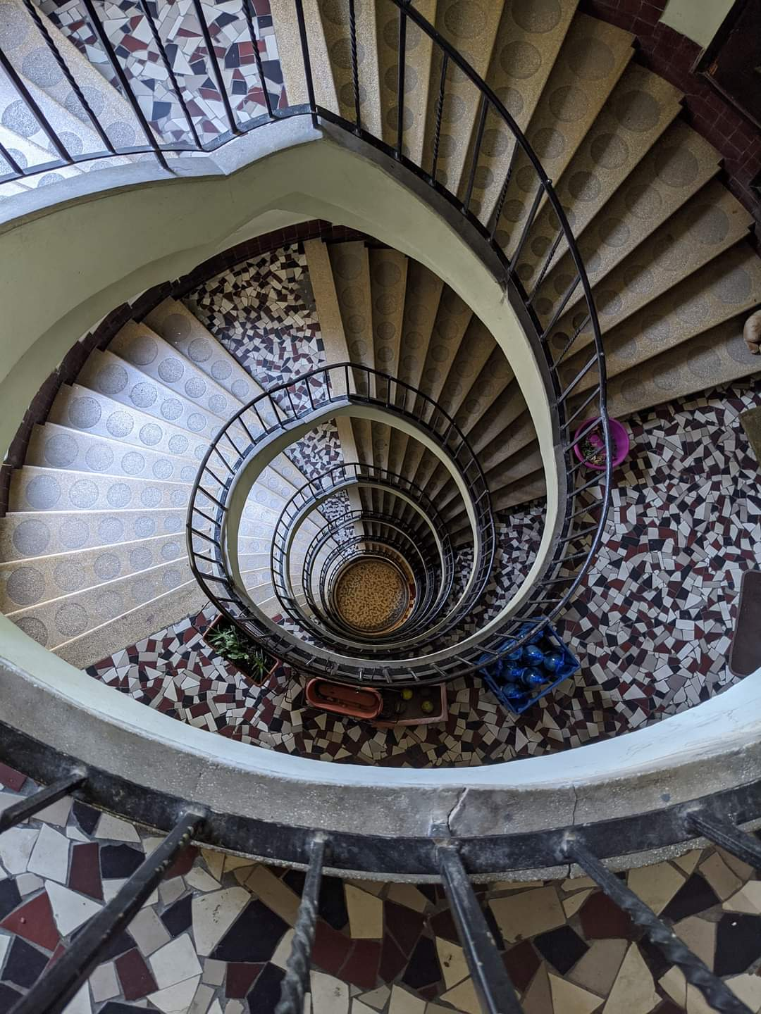 Circular stairs of a building