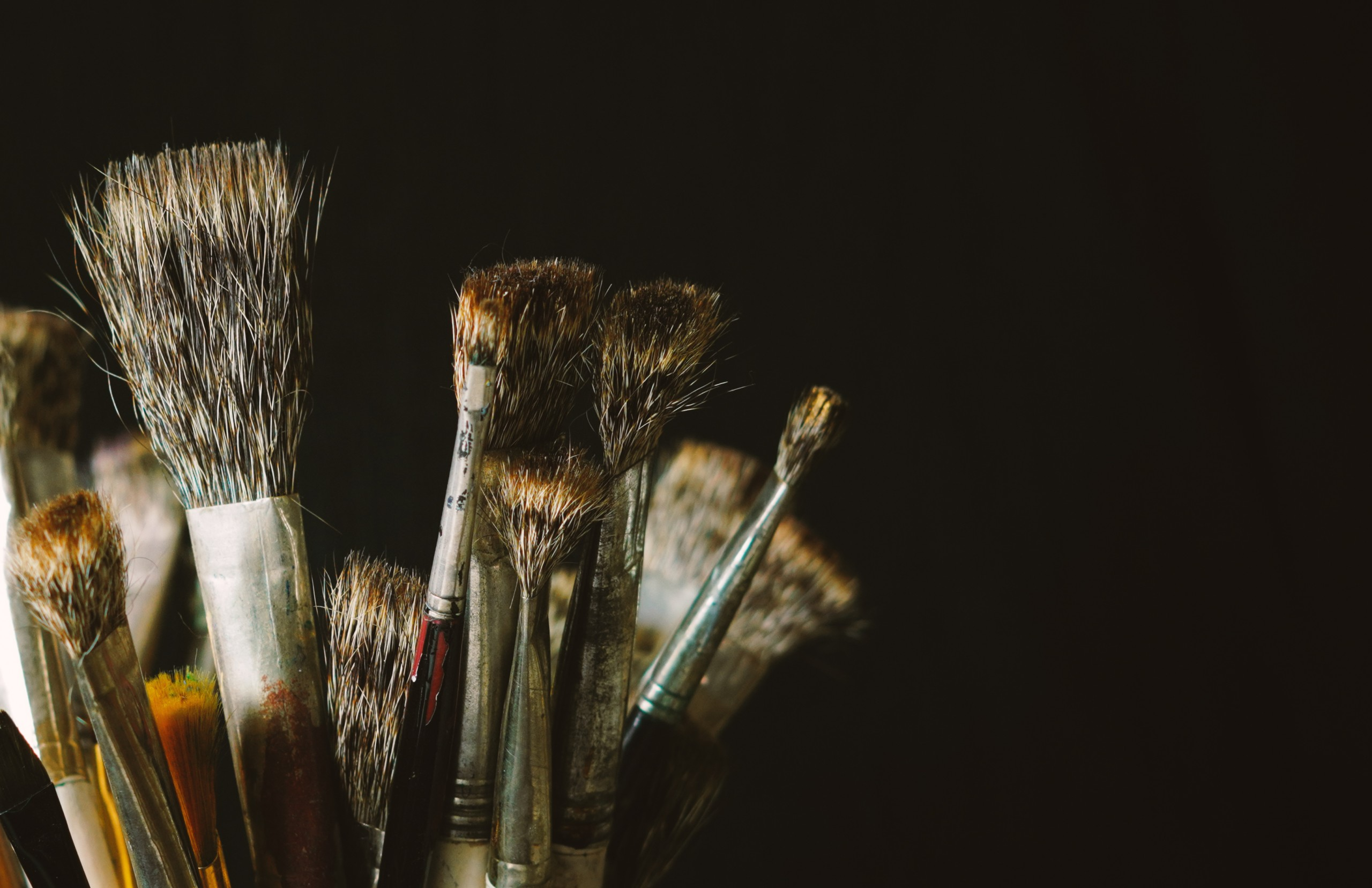 Close-up Painting Brushes