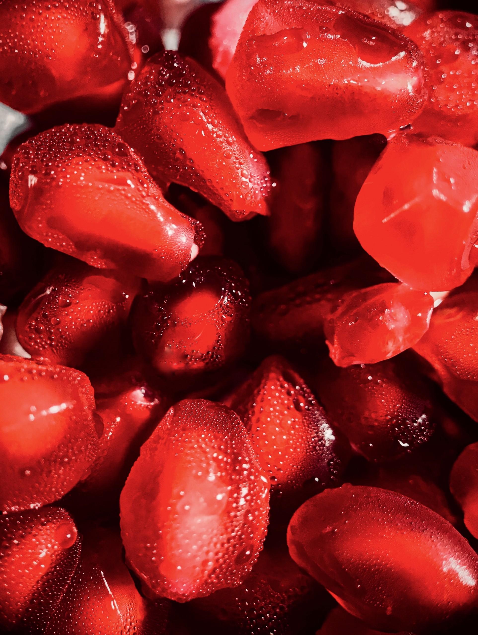 Close-up Seeds of Pomegranates