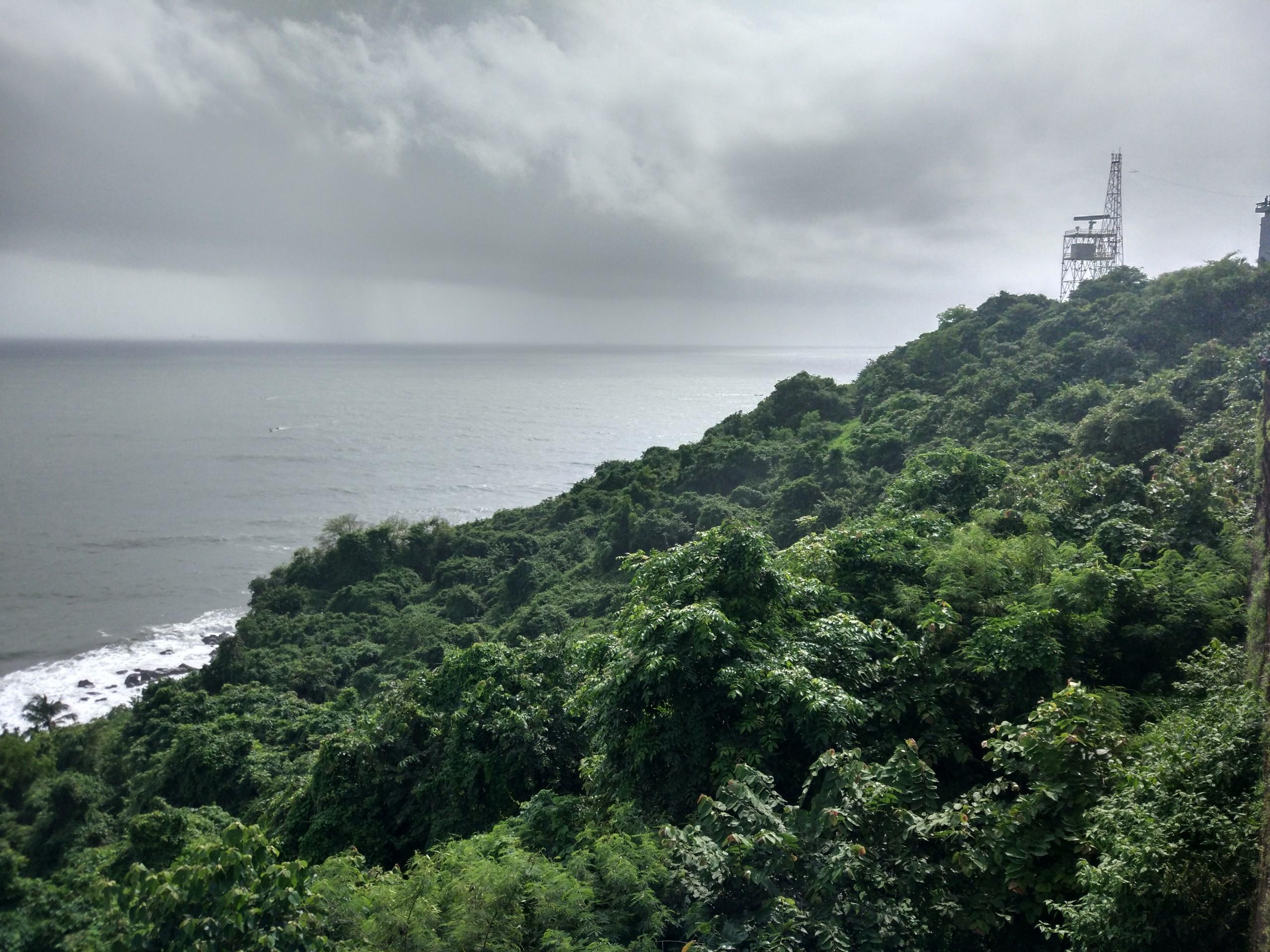 Cloudy weather in Goa