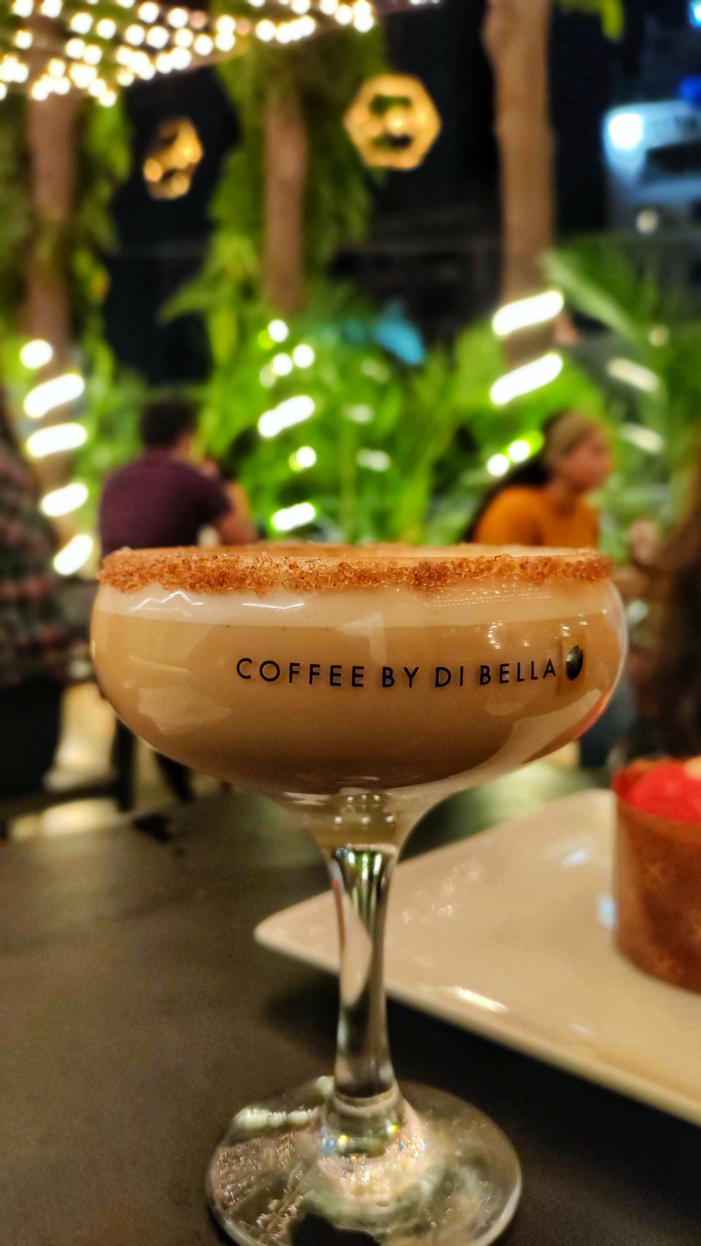 Coffee on Champagne Glass