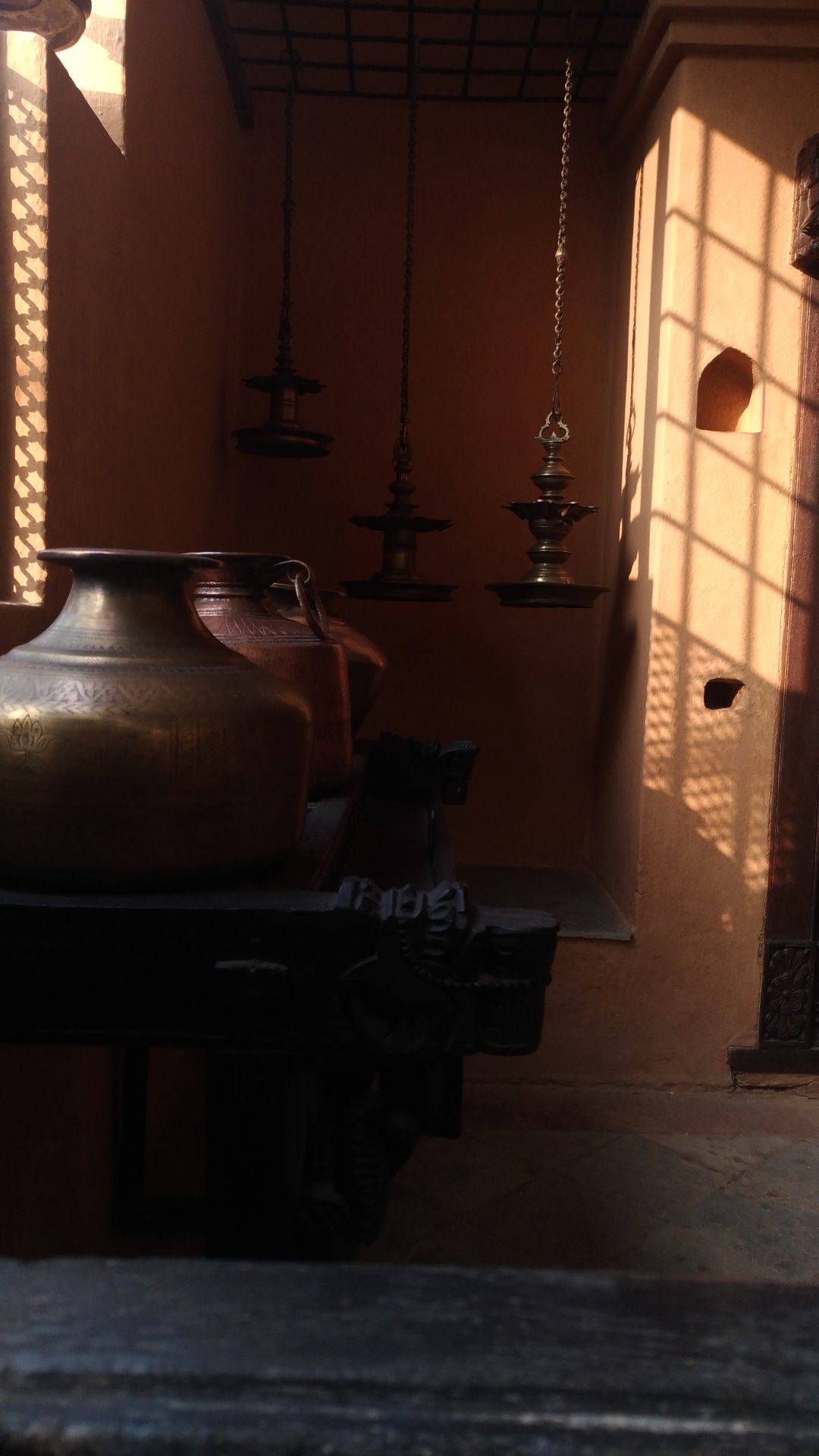 Large jars in a room