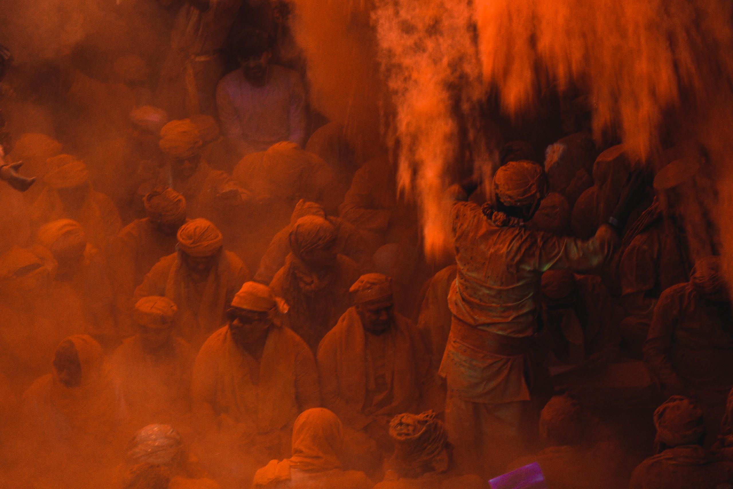 Big Holi Festival Red Color