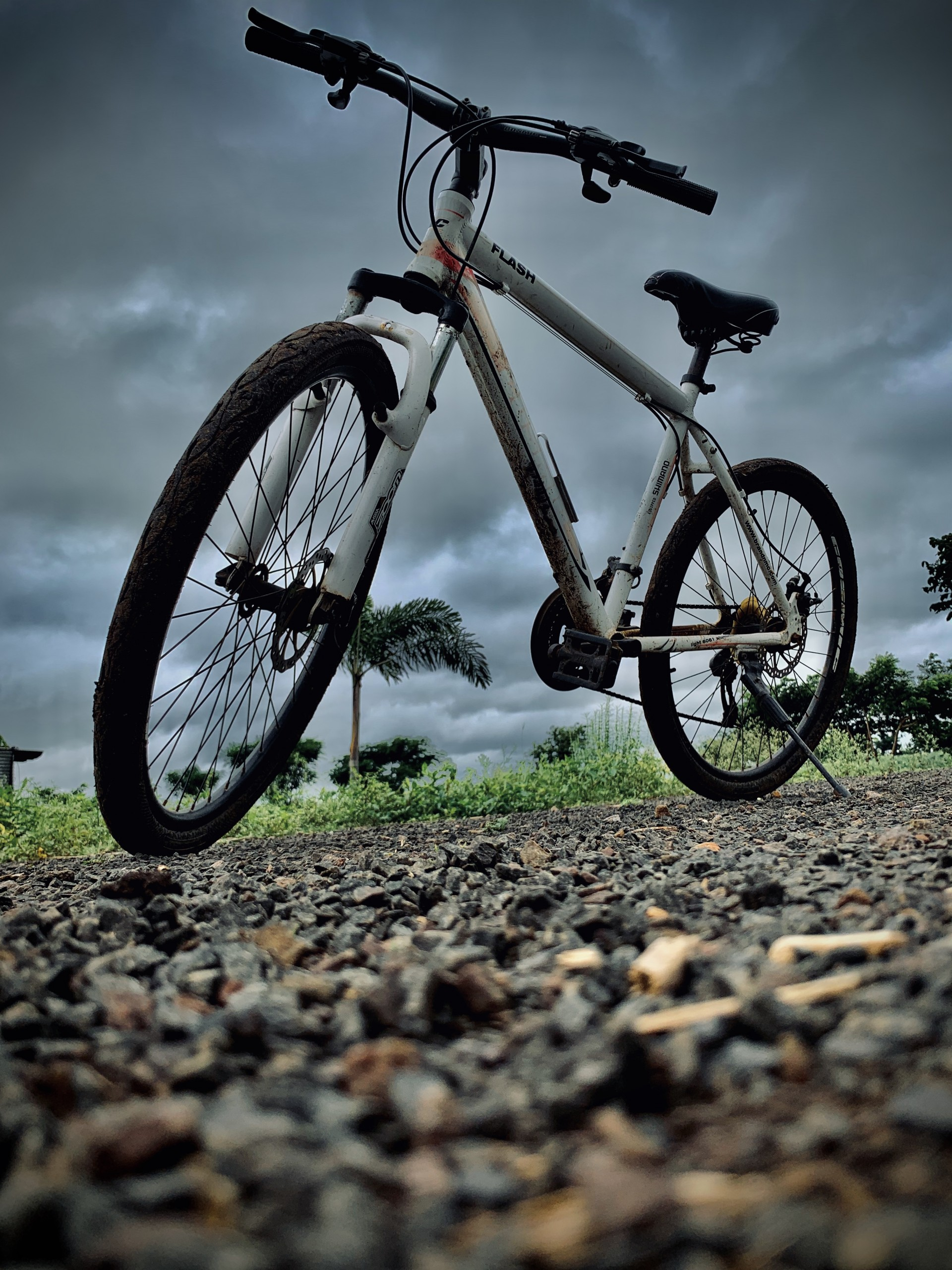 Cycle in a stormy evening