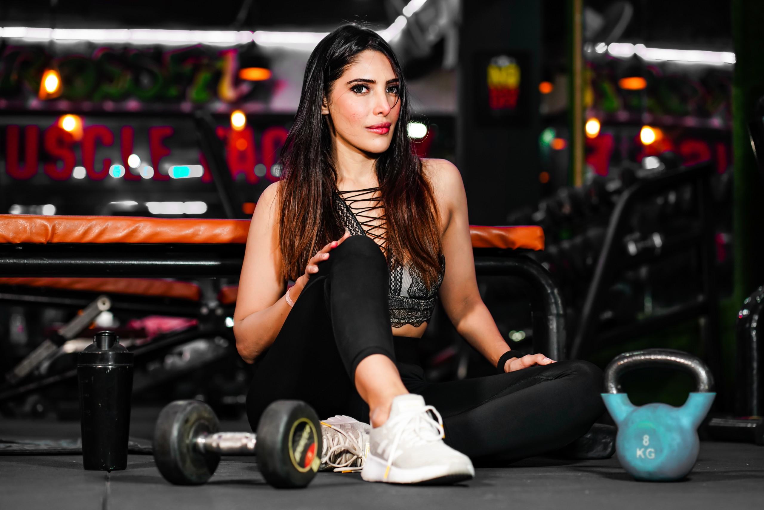 Female gym trainer