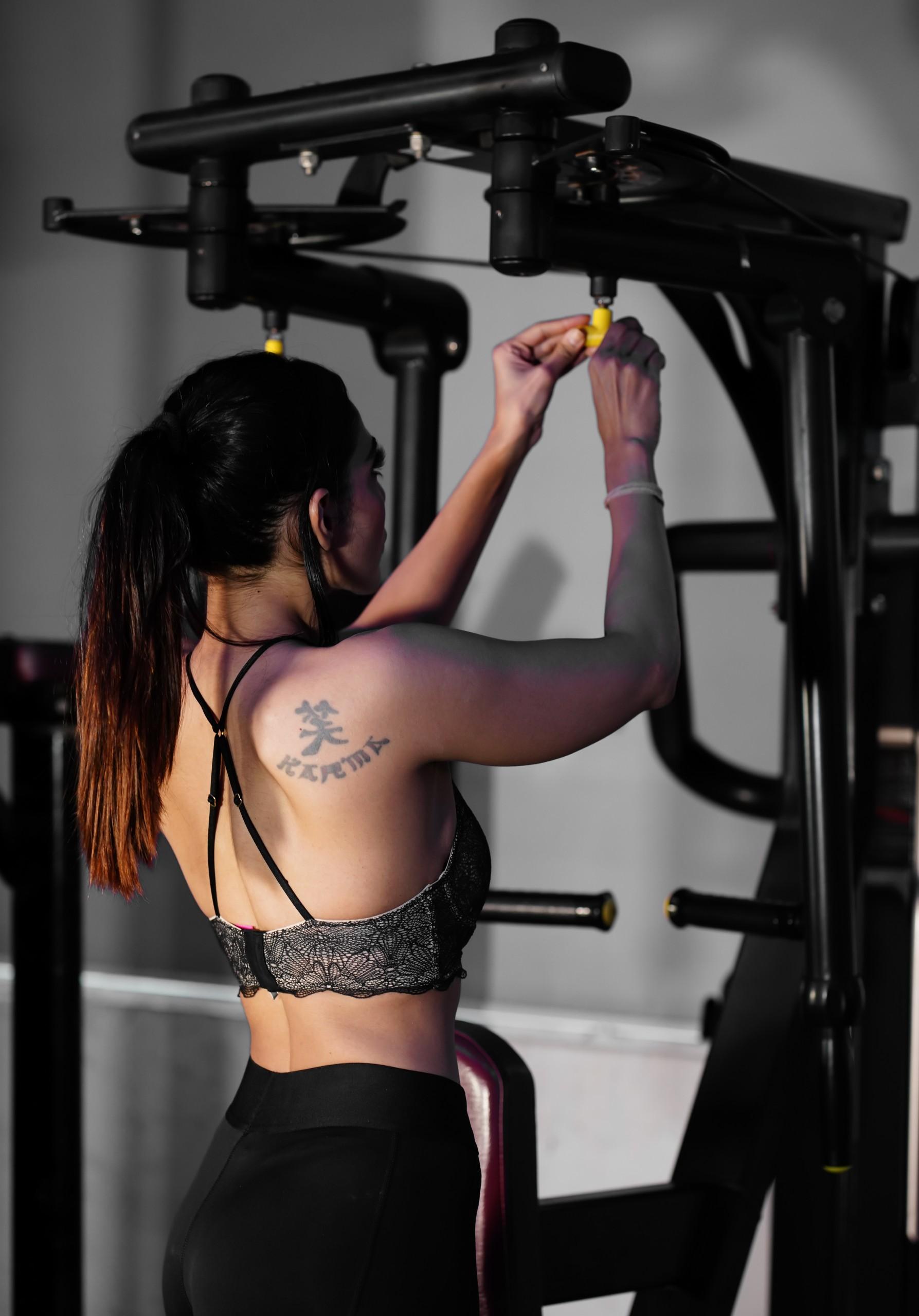 Female model in gym