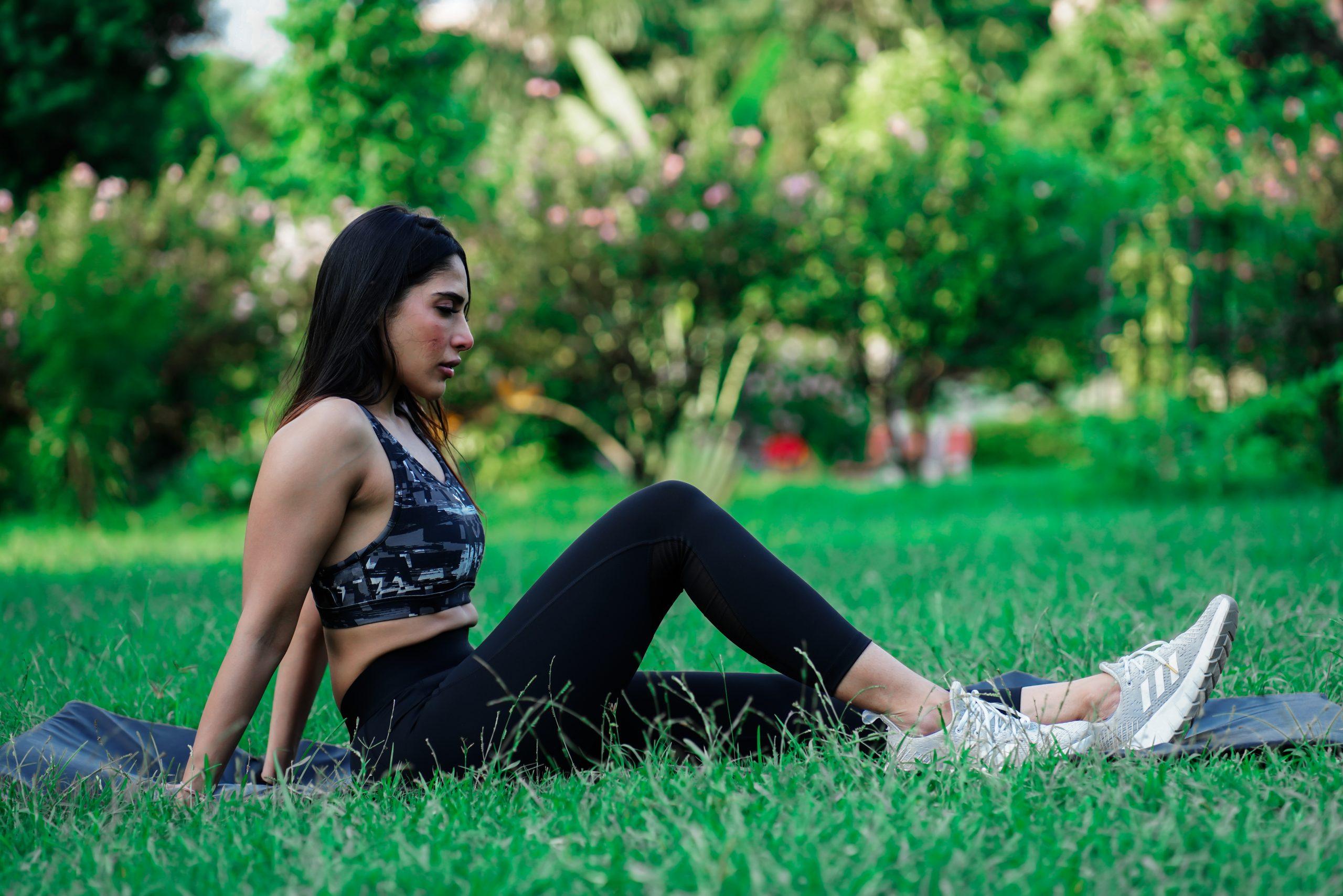 Female sitting in park