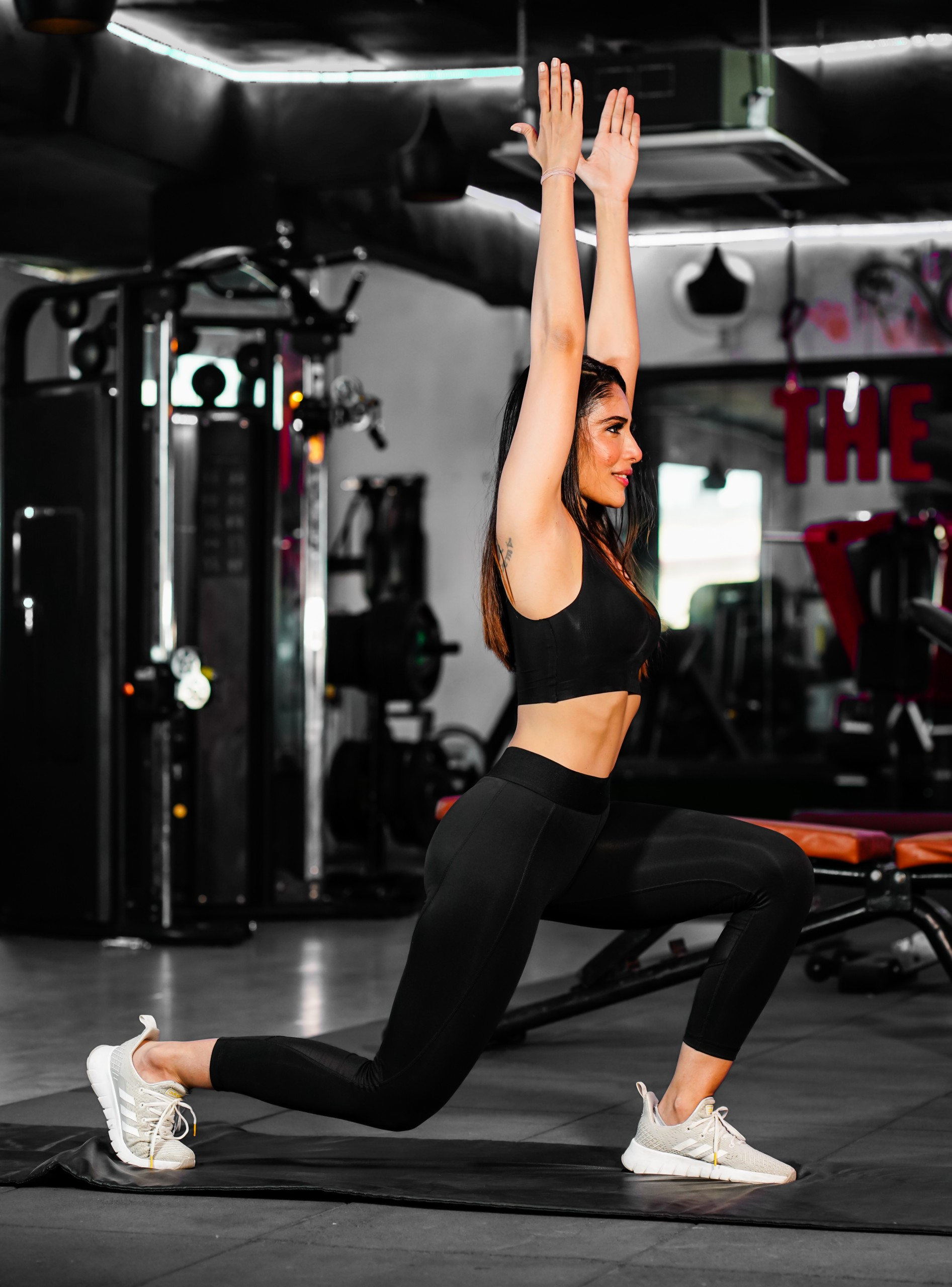 Fit Woman yoga in the Gym