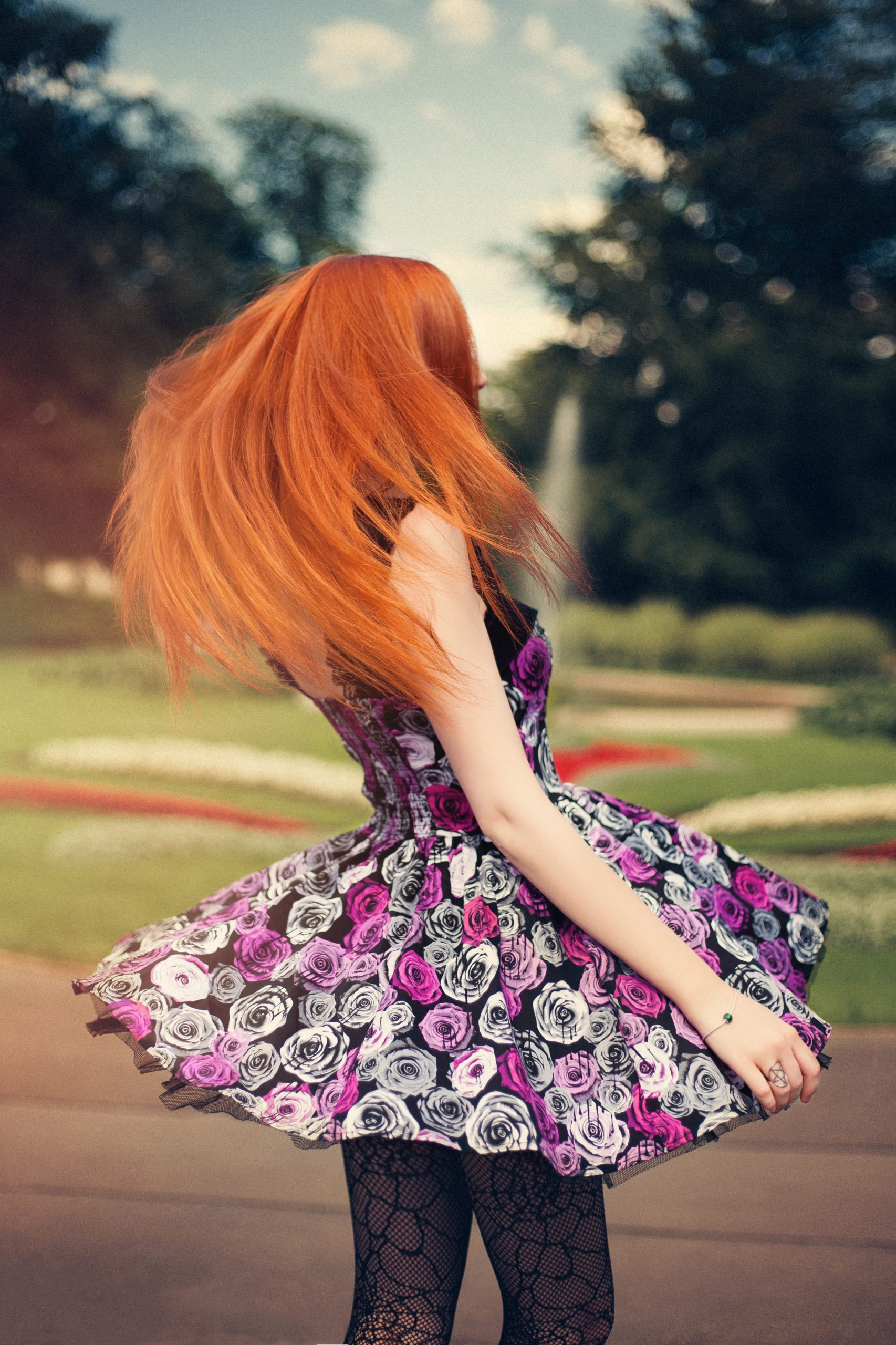 Flower Dress Girl