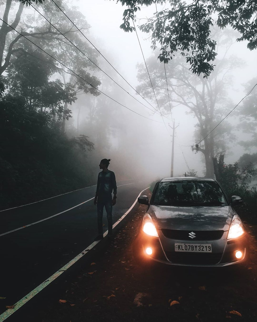 Foggy Weather on a Hill