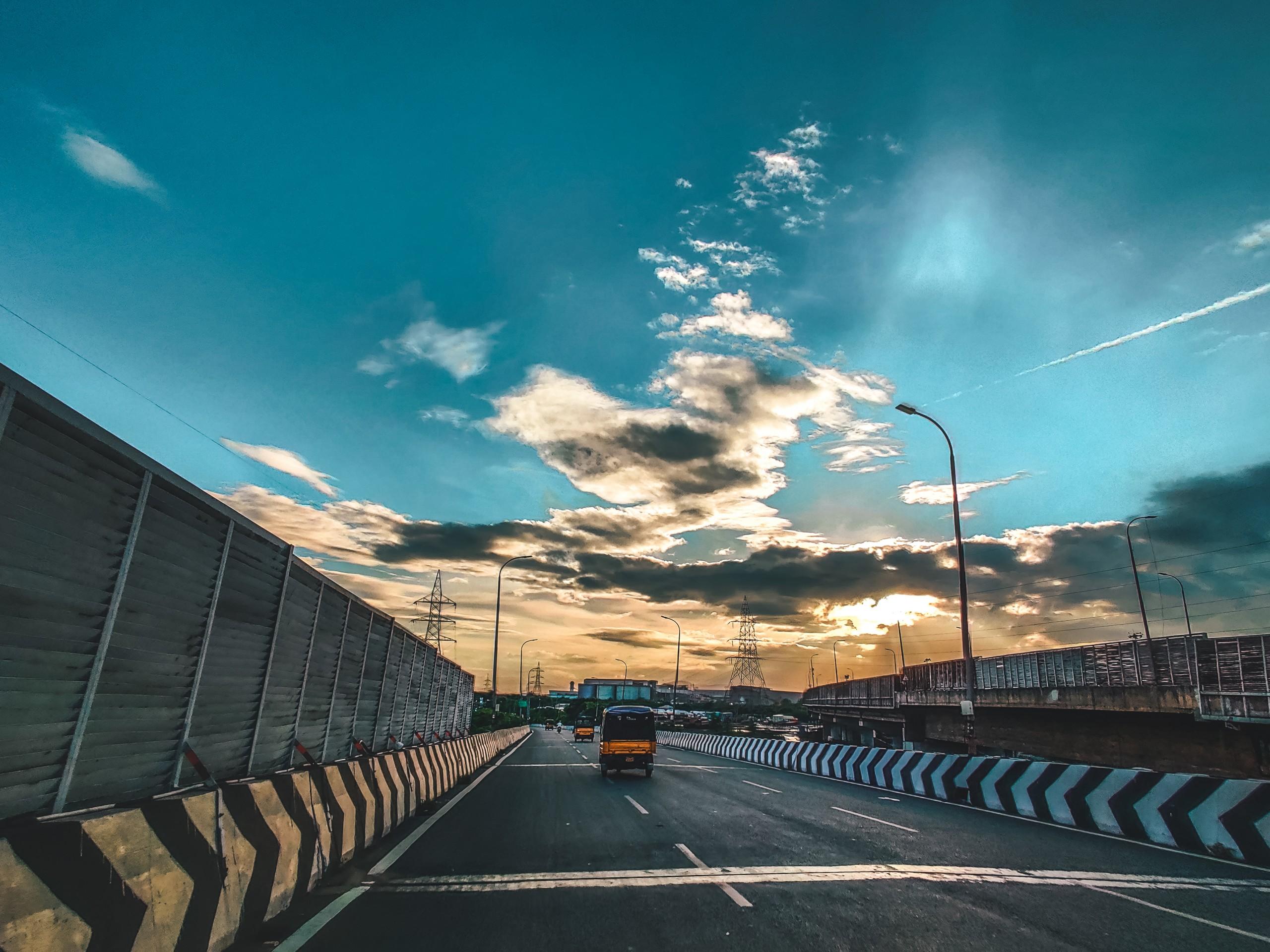 Freeway in a City