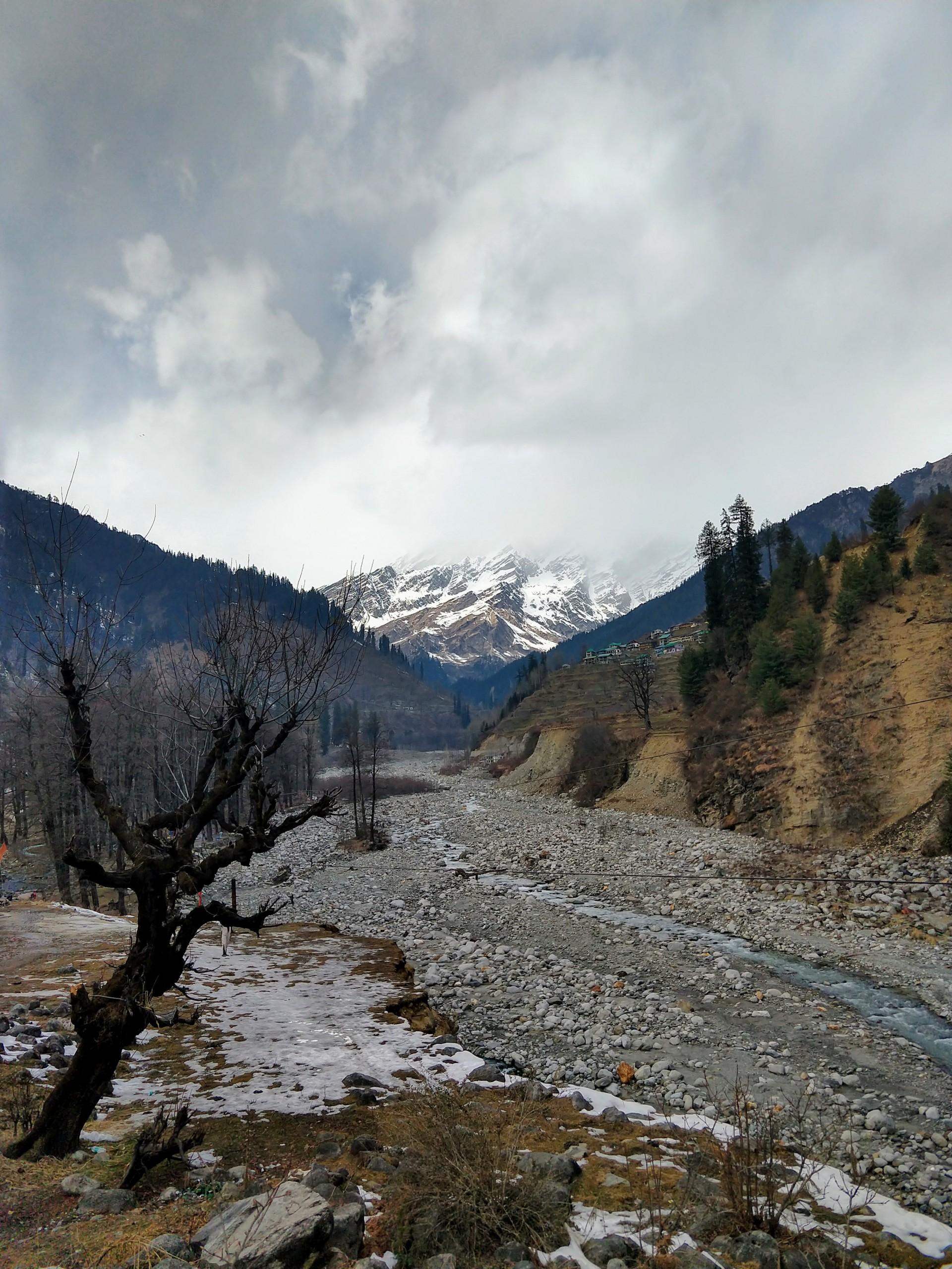 Aesthetic Himalayan landscape.