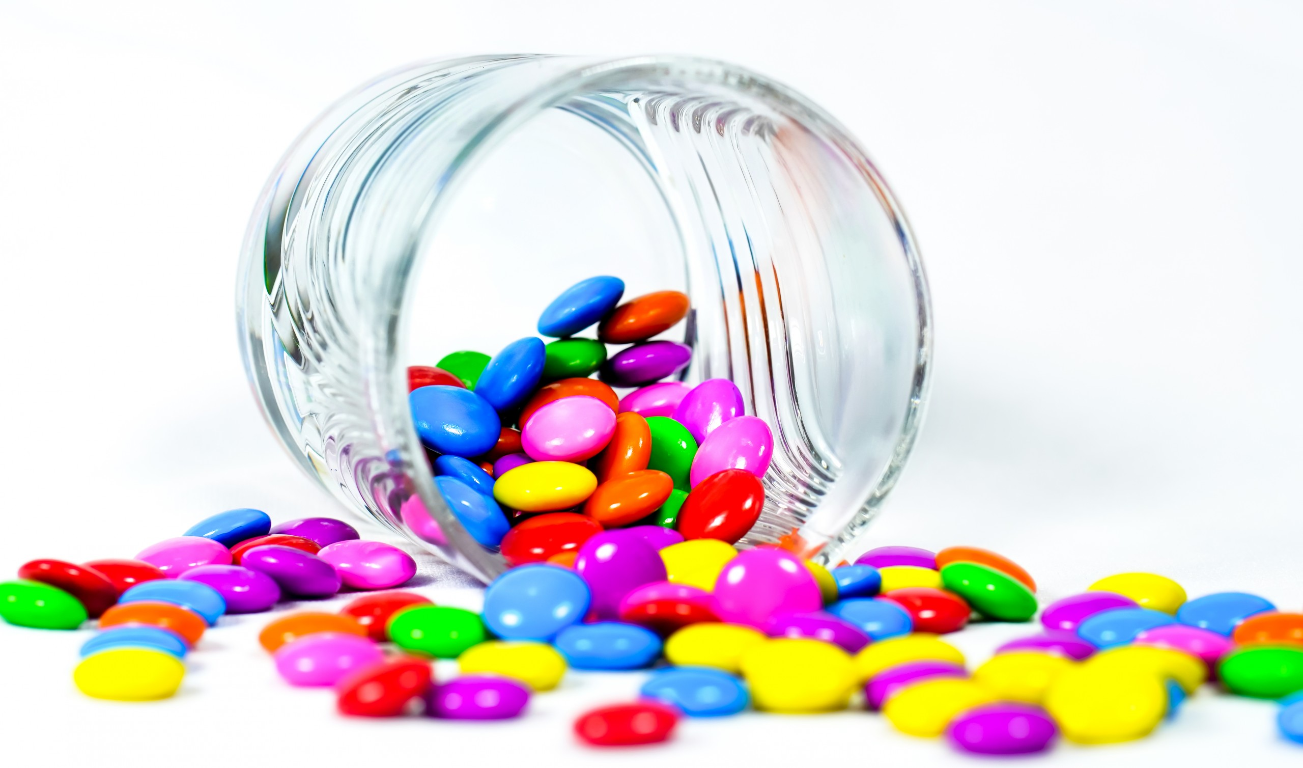 Candies Inside Glass