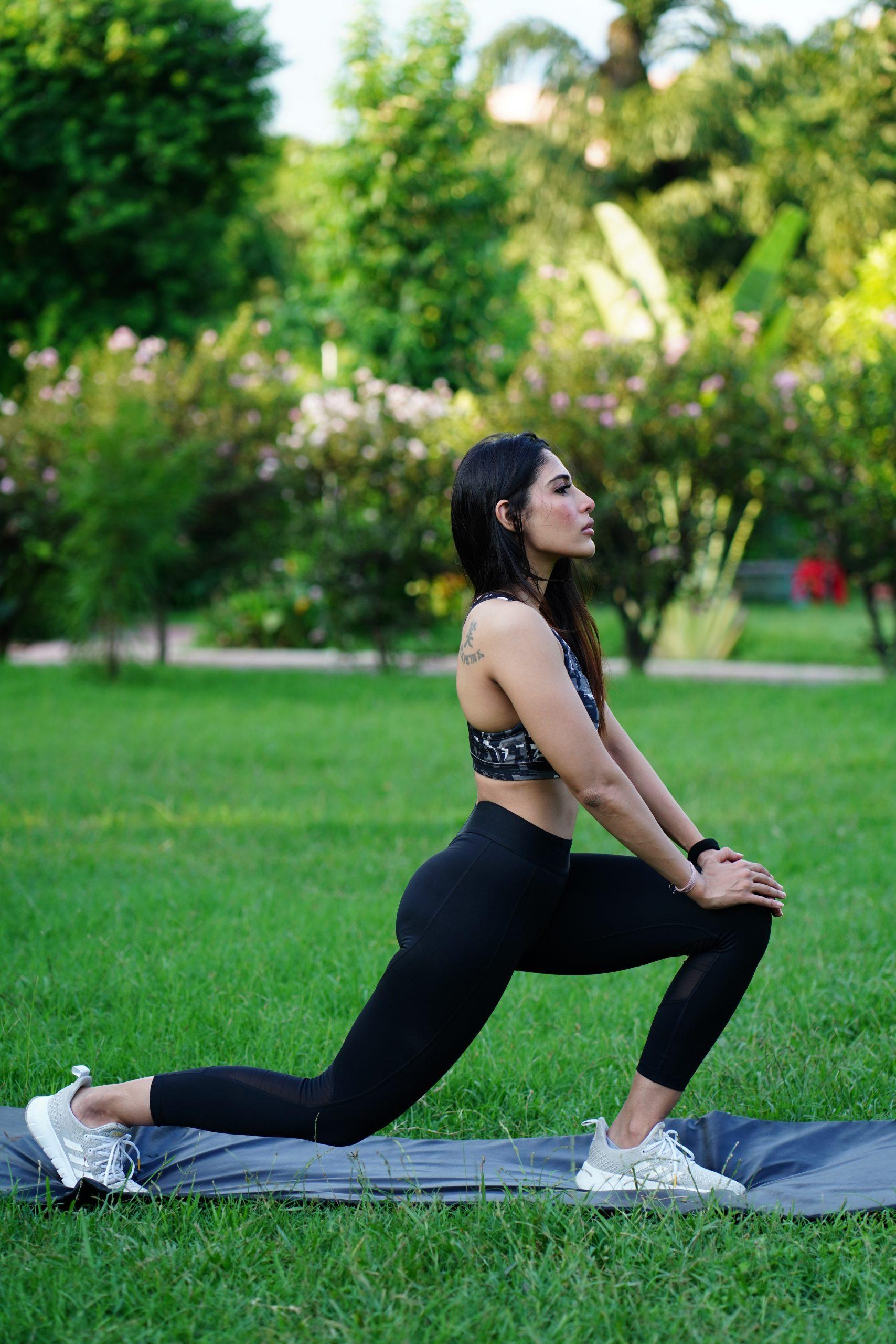 Girl Yoga Outdoor