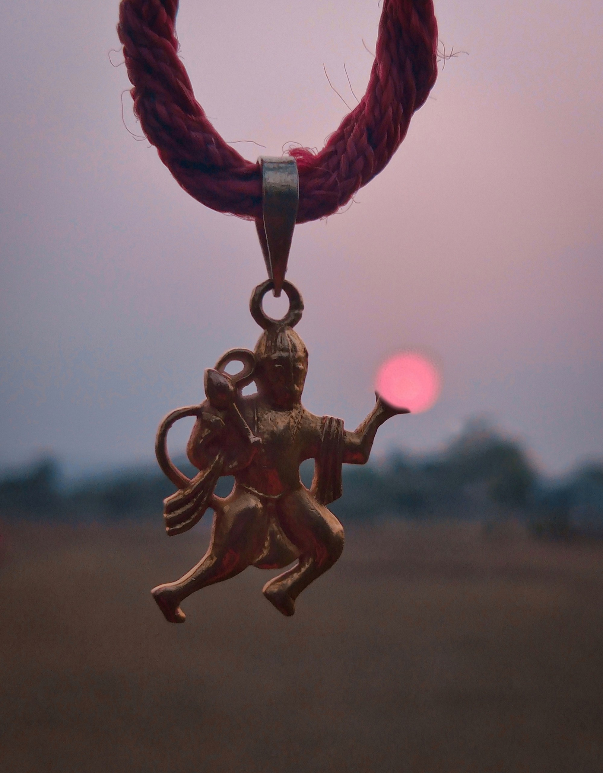 Hanumanji carrying Sun Pendant