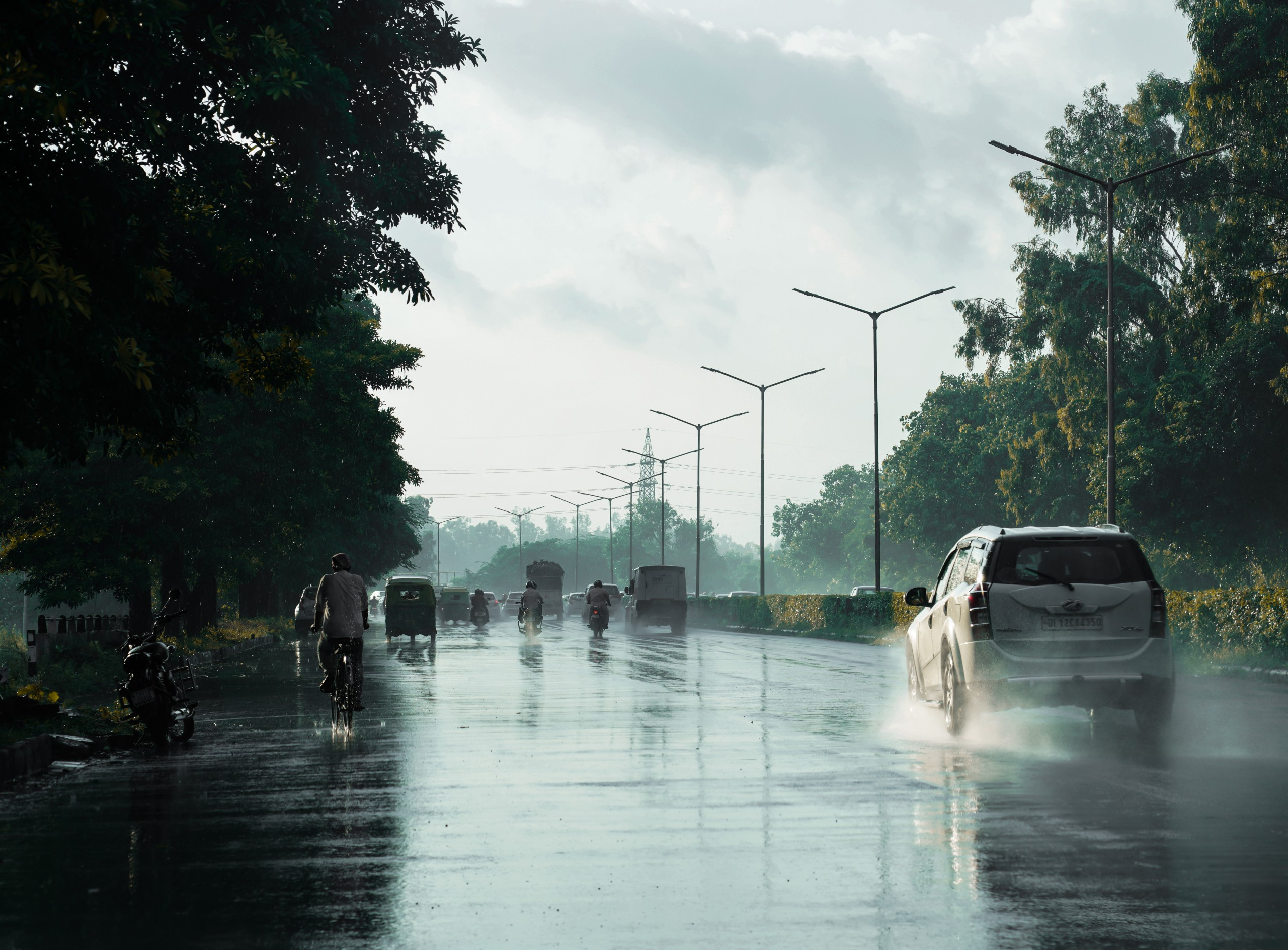 Heavy rain at Chandigarh, Rain view at Chandigarh