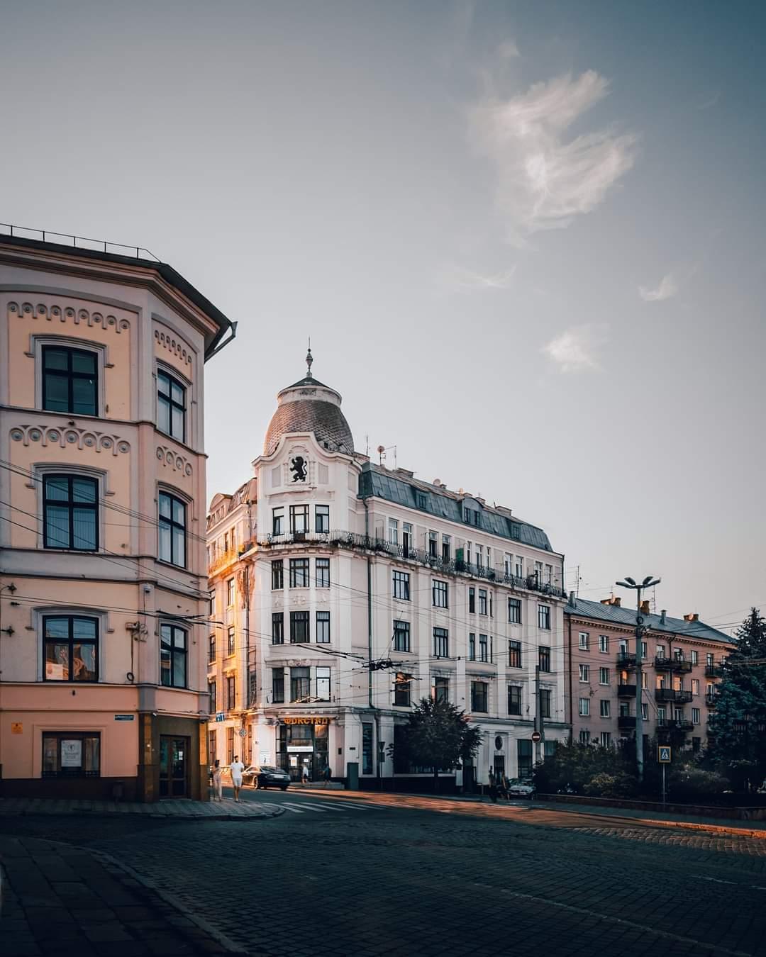 Houses in Ukraine City