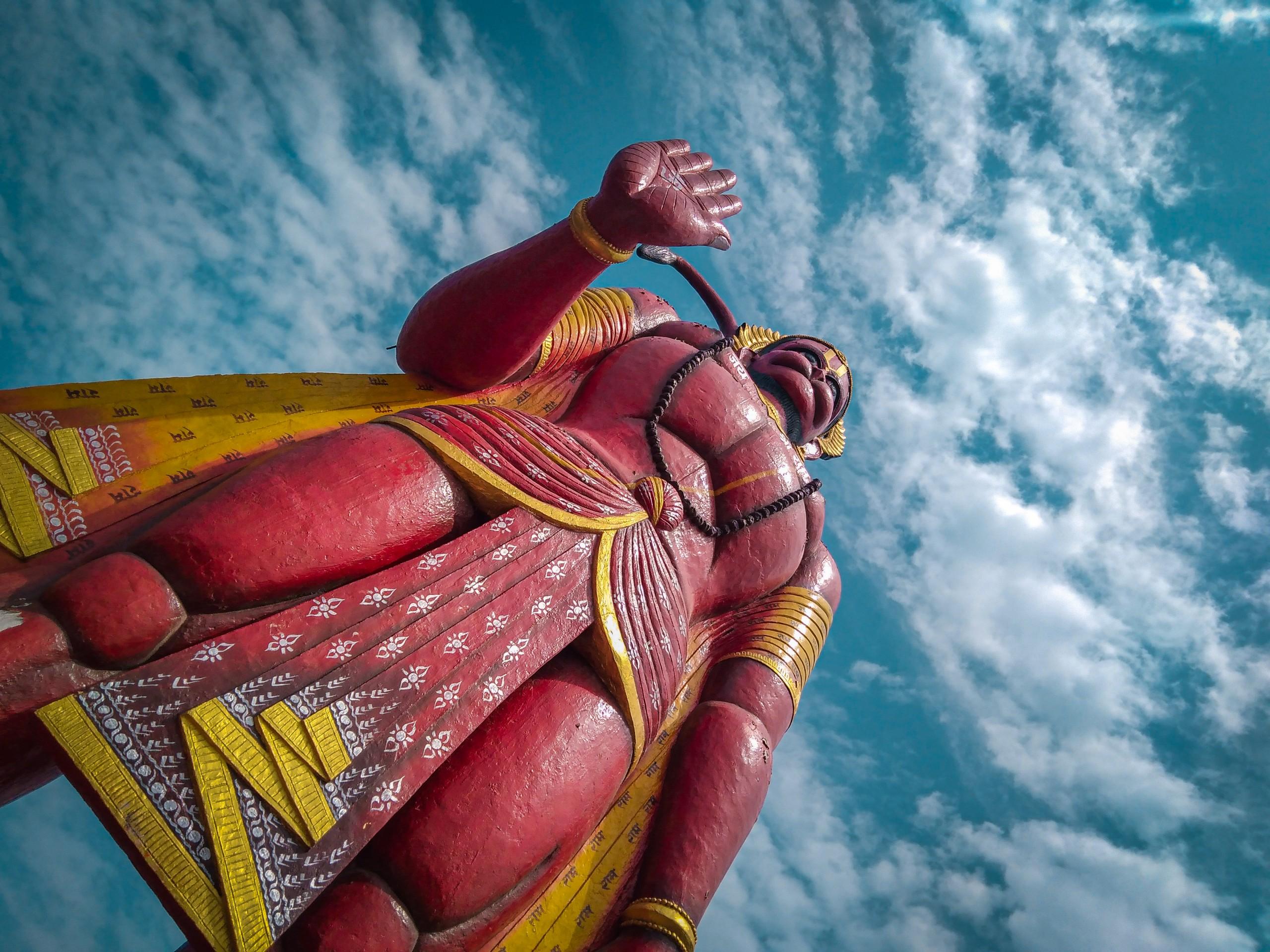 A figurine of Lord Hanuman