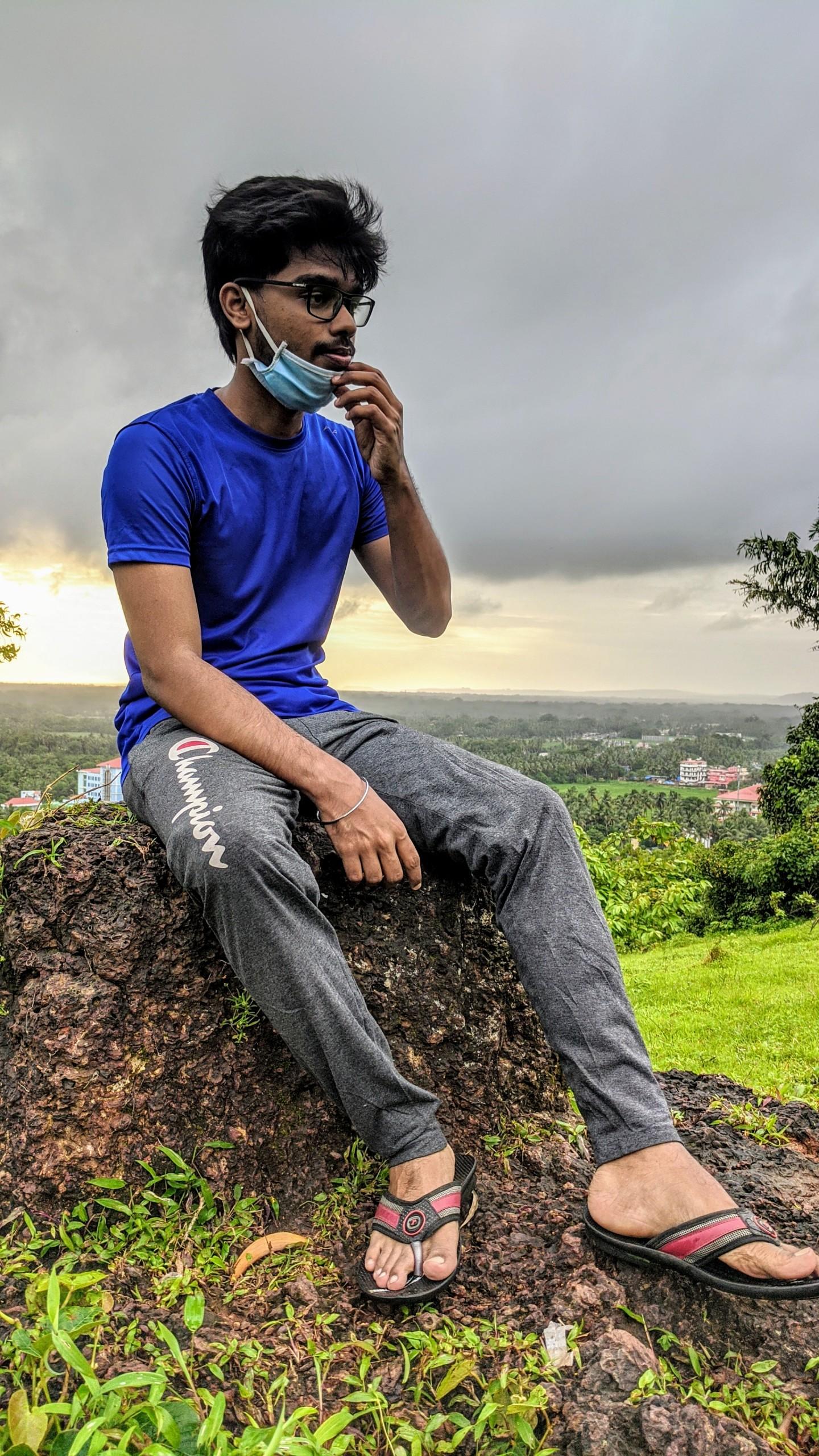 Indian Boy Thinking