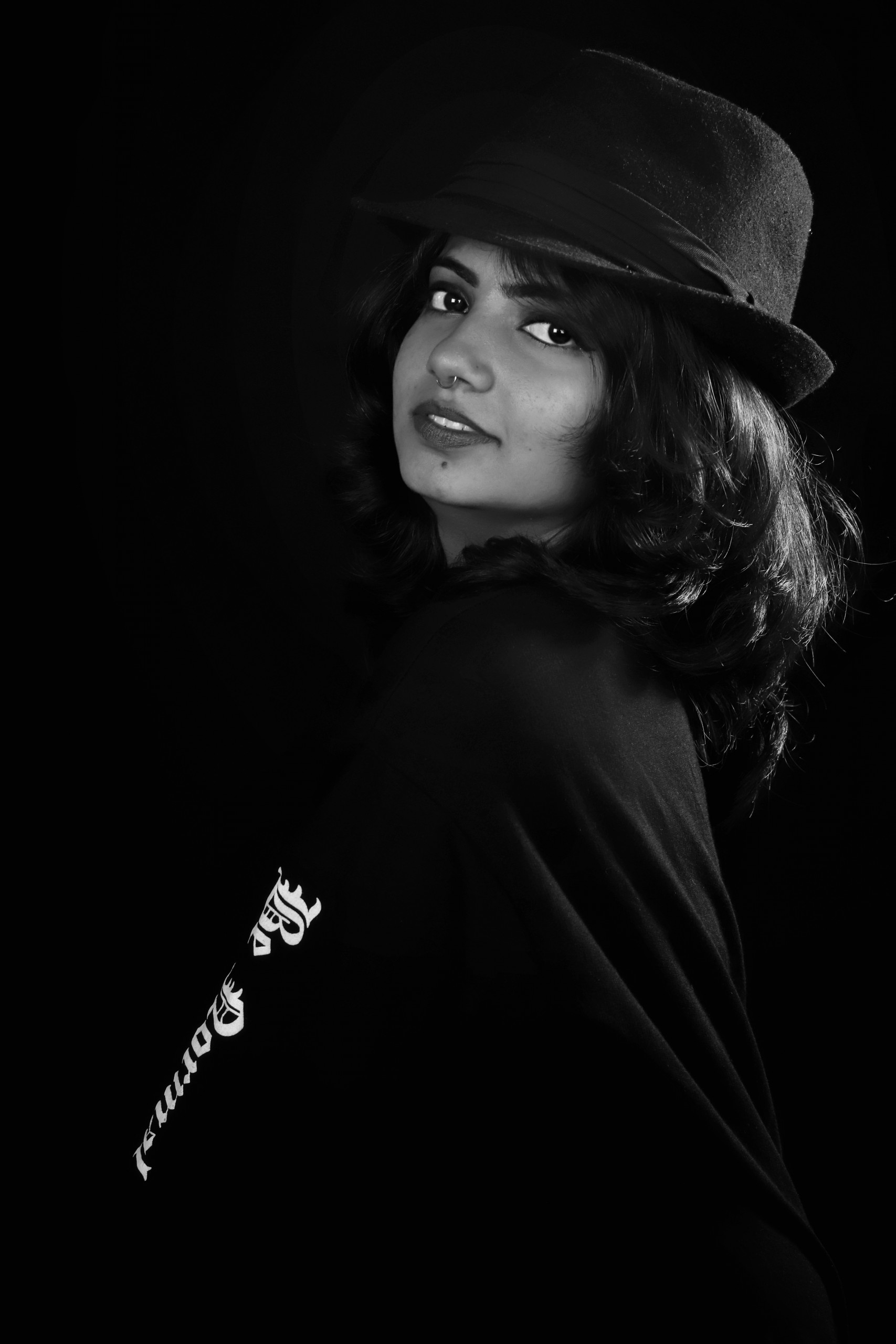 Indian Fashion Model in Black and White
