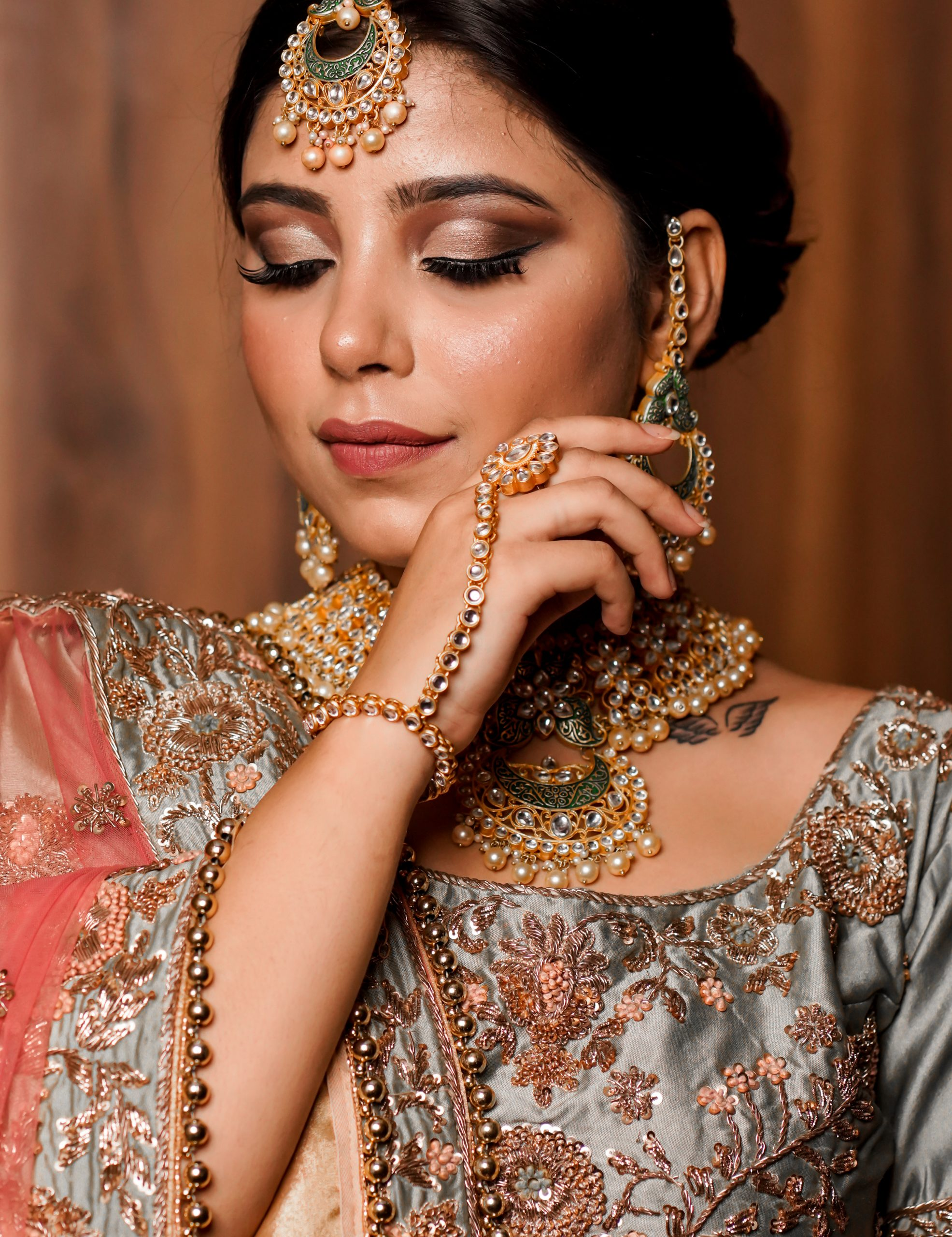 Indian Model with Traditional Clothes