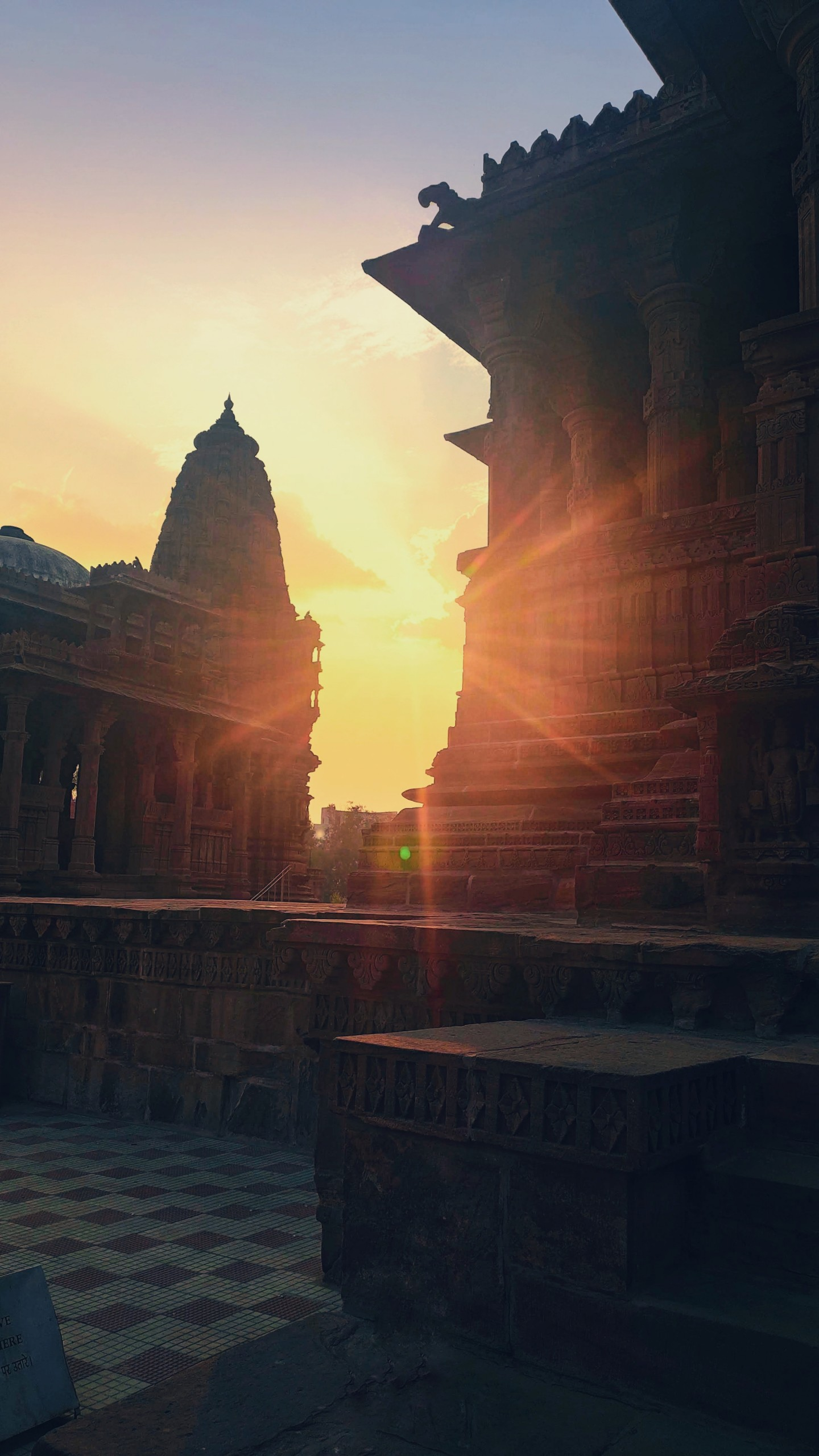 Sunset at the Temple