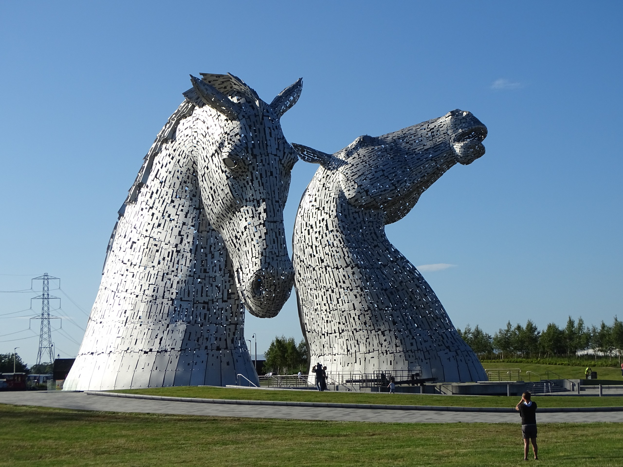 A pair of architectural Horse