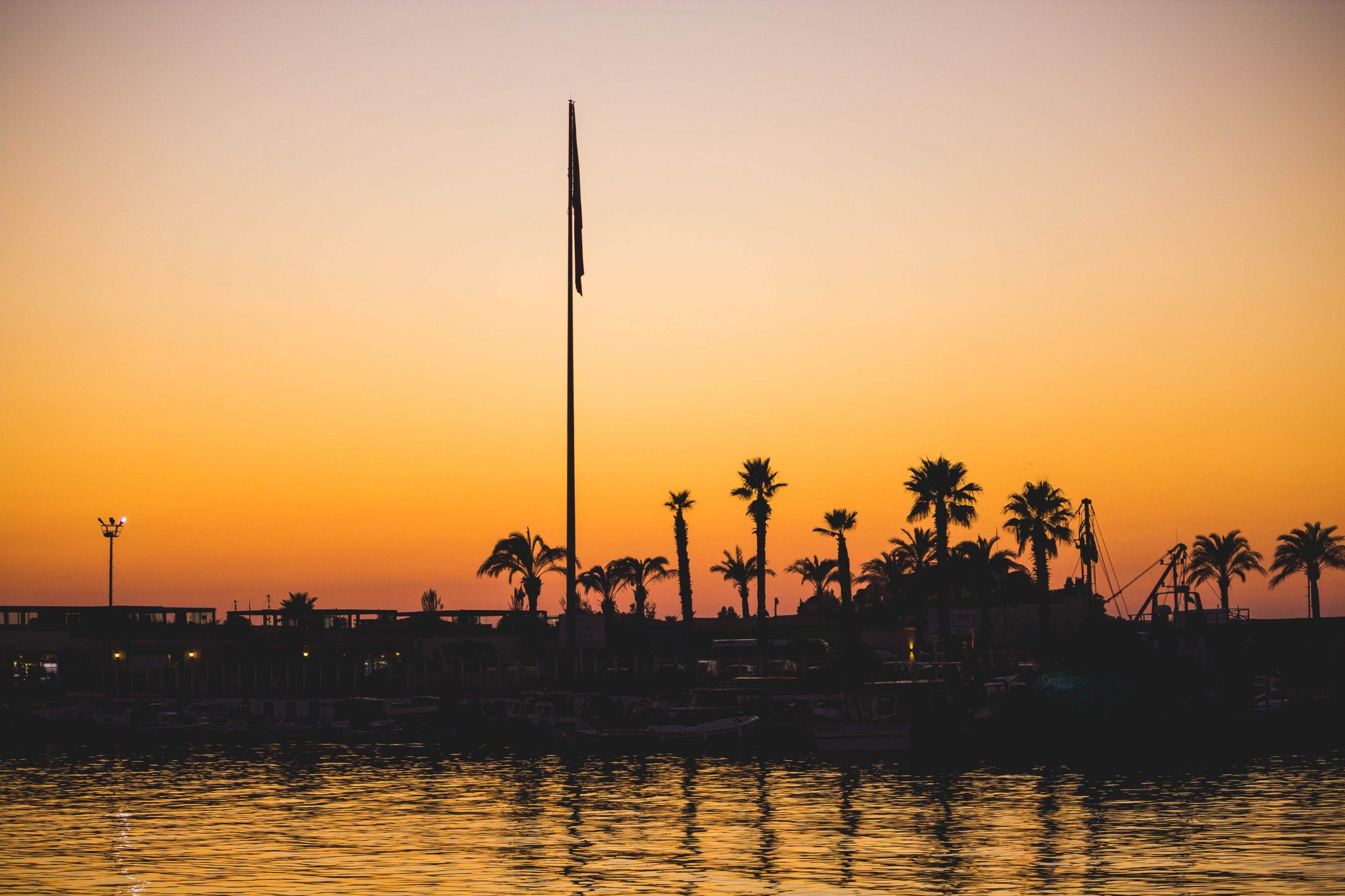 Kusadasi pier at sunset, Turkey