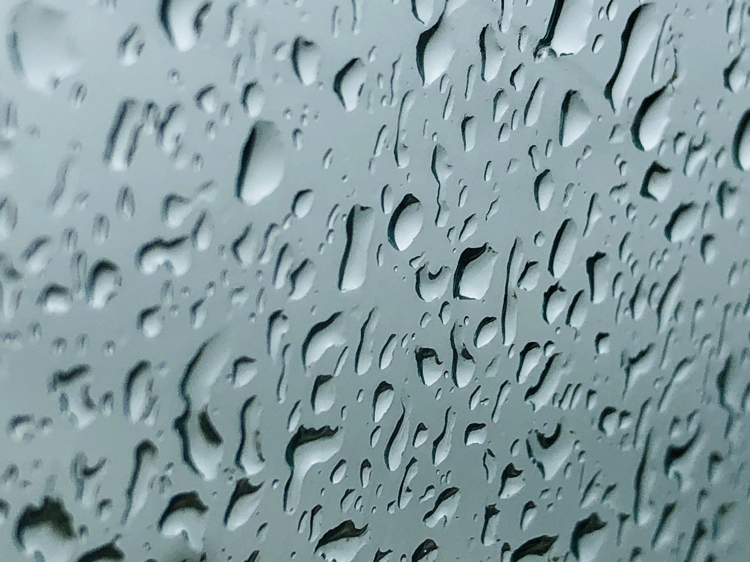 Drops of water on mirror
