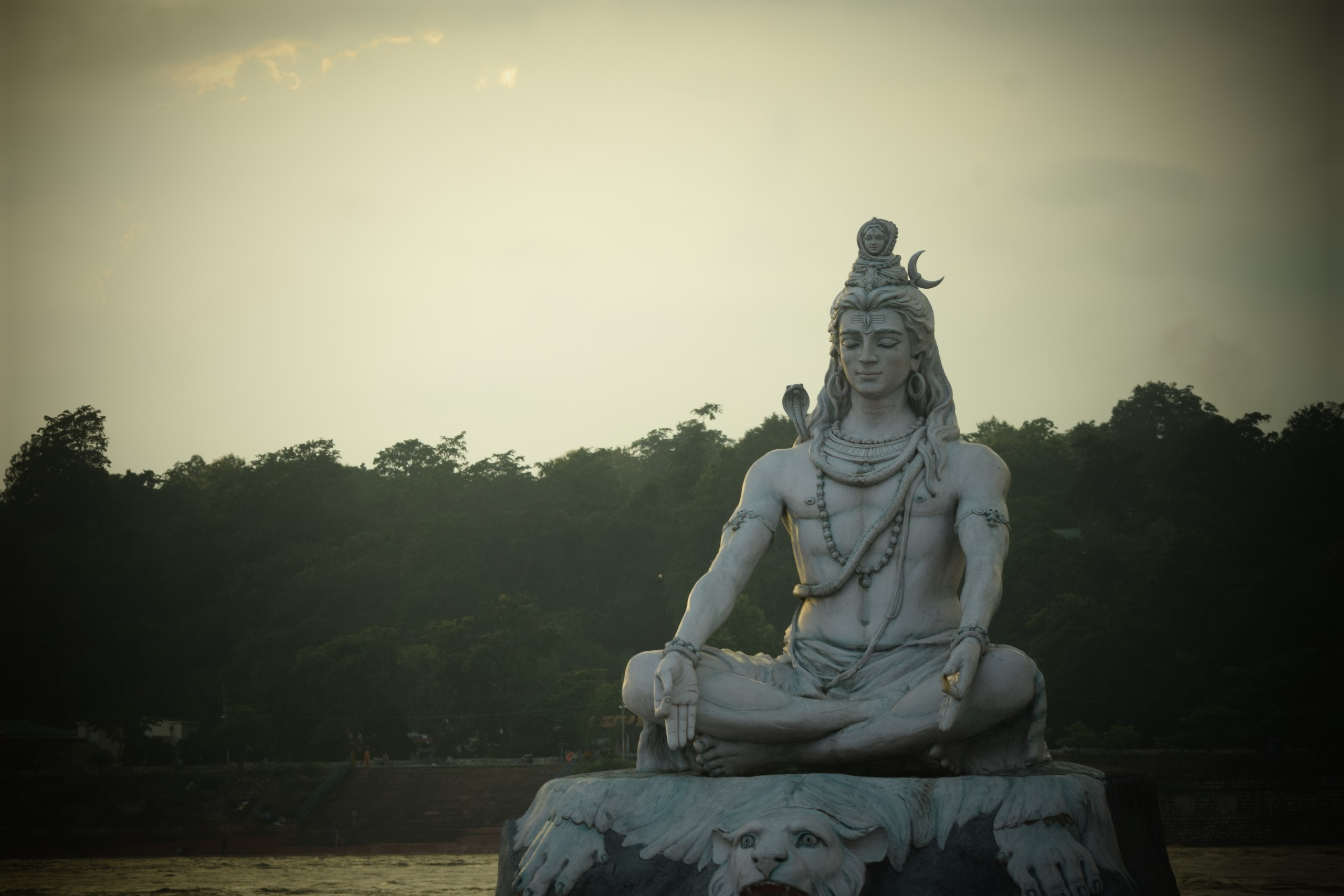 Statue at the dawn