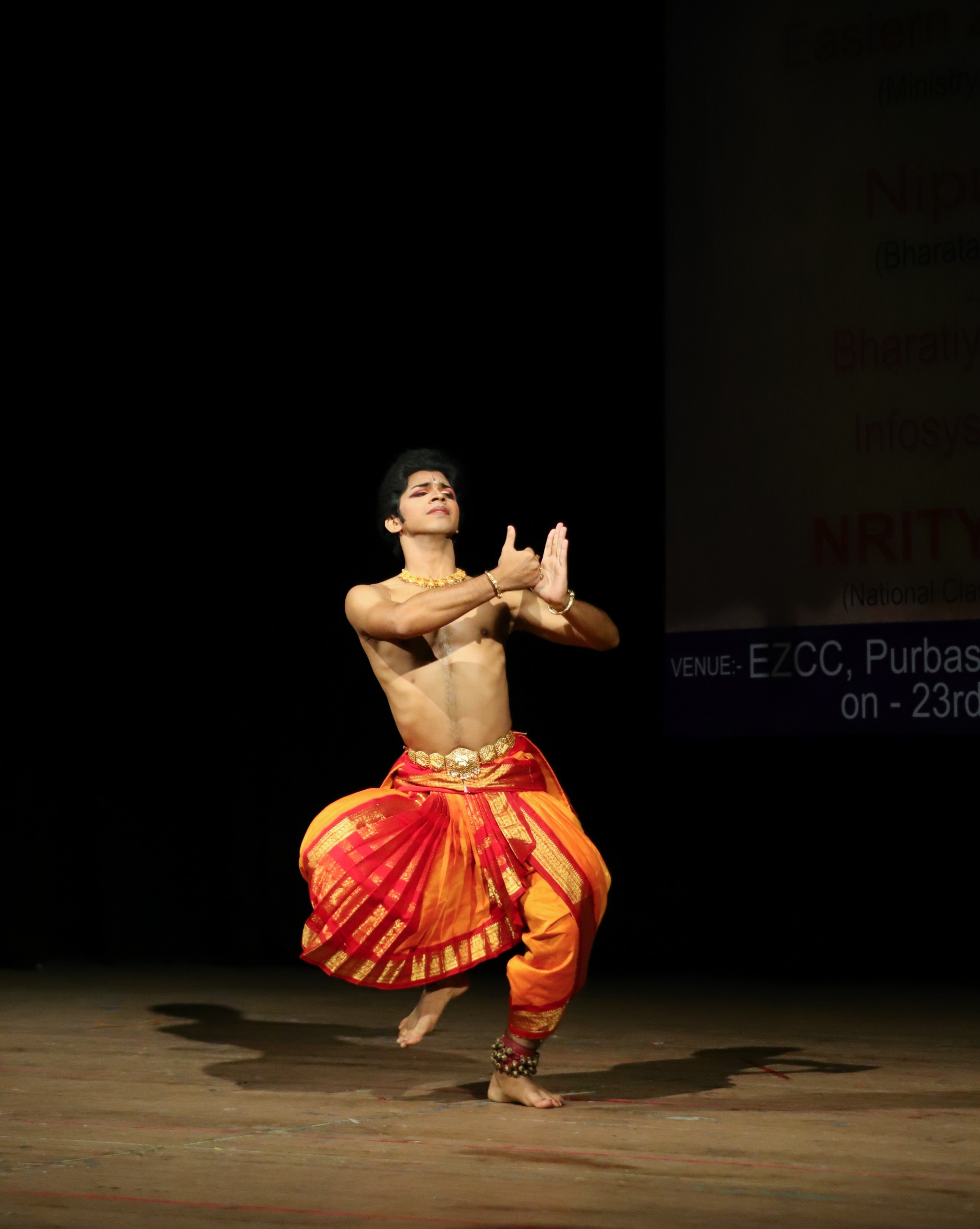 Man doing a Traditional Dance