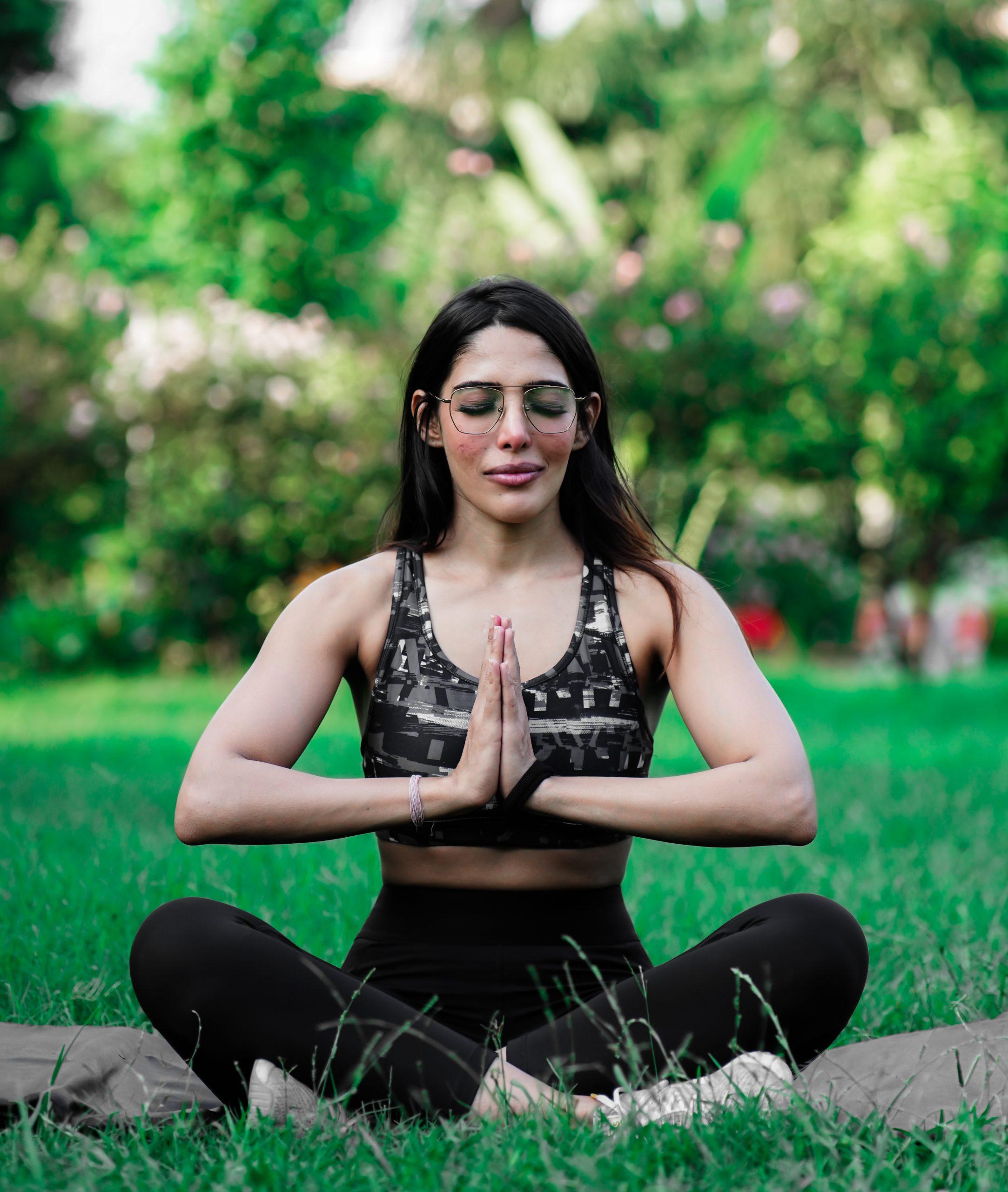 Meditating Yoga Fitness Model