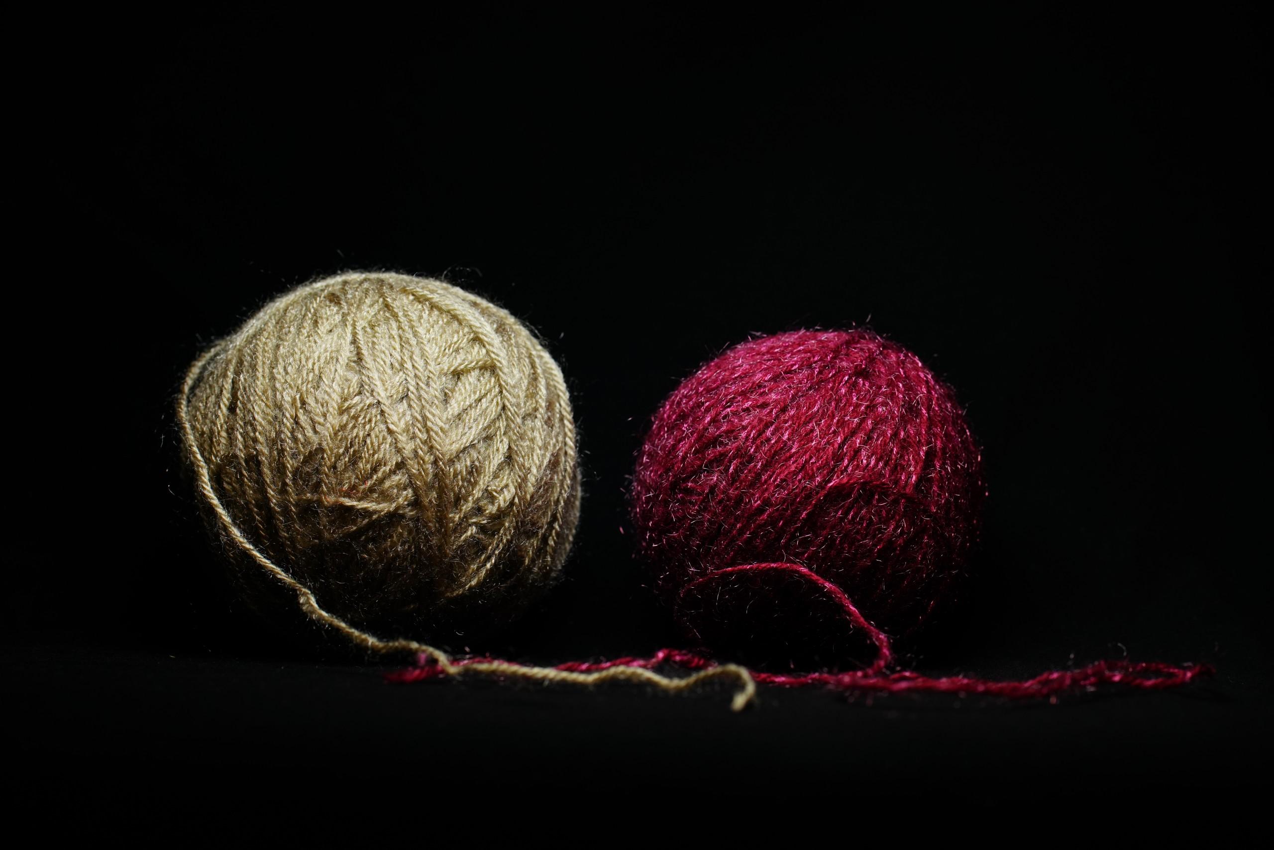Close-up Shot of Woolen Balls