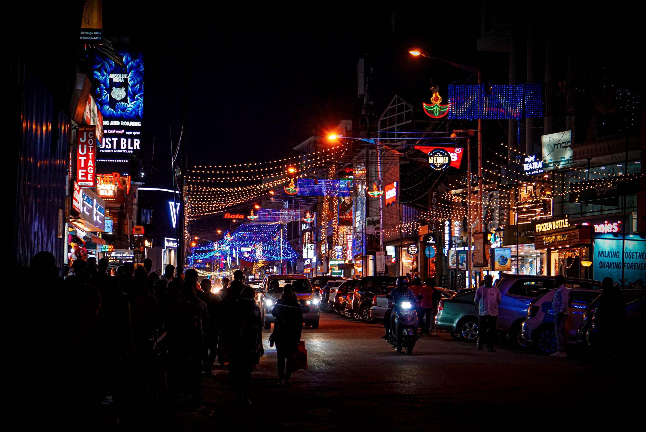 Night Life at Bangalore